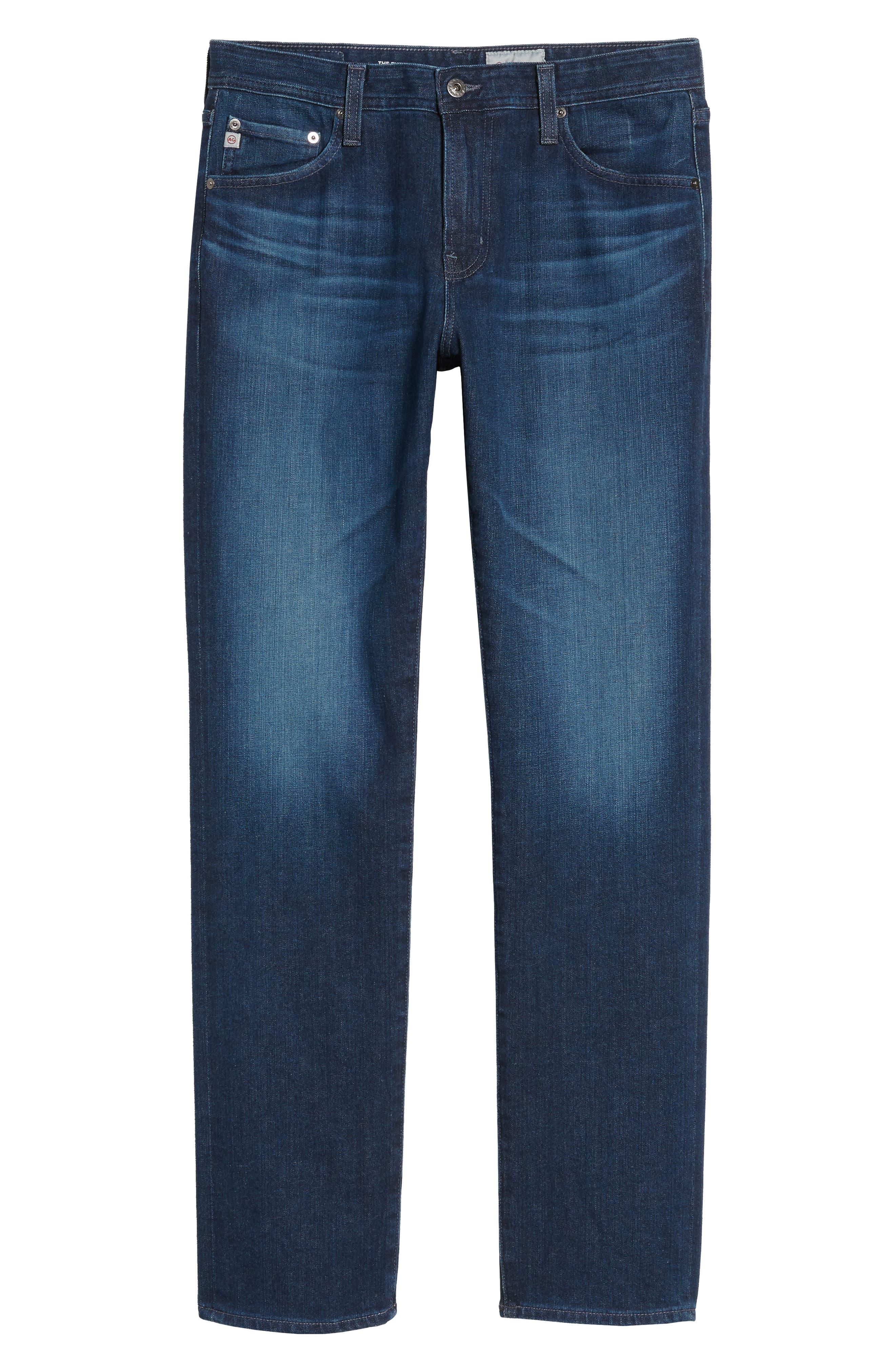 Everett Slim Straight Leg Jeans,                             Alternate thumbnail 6, color,                             Cross Creek