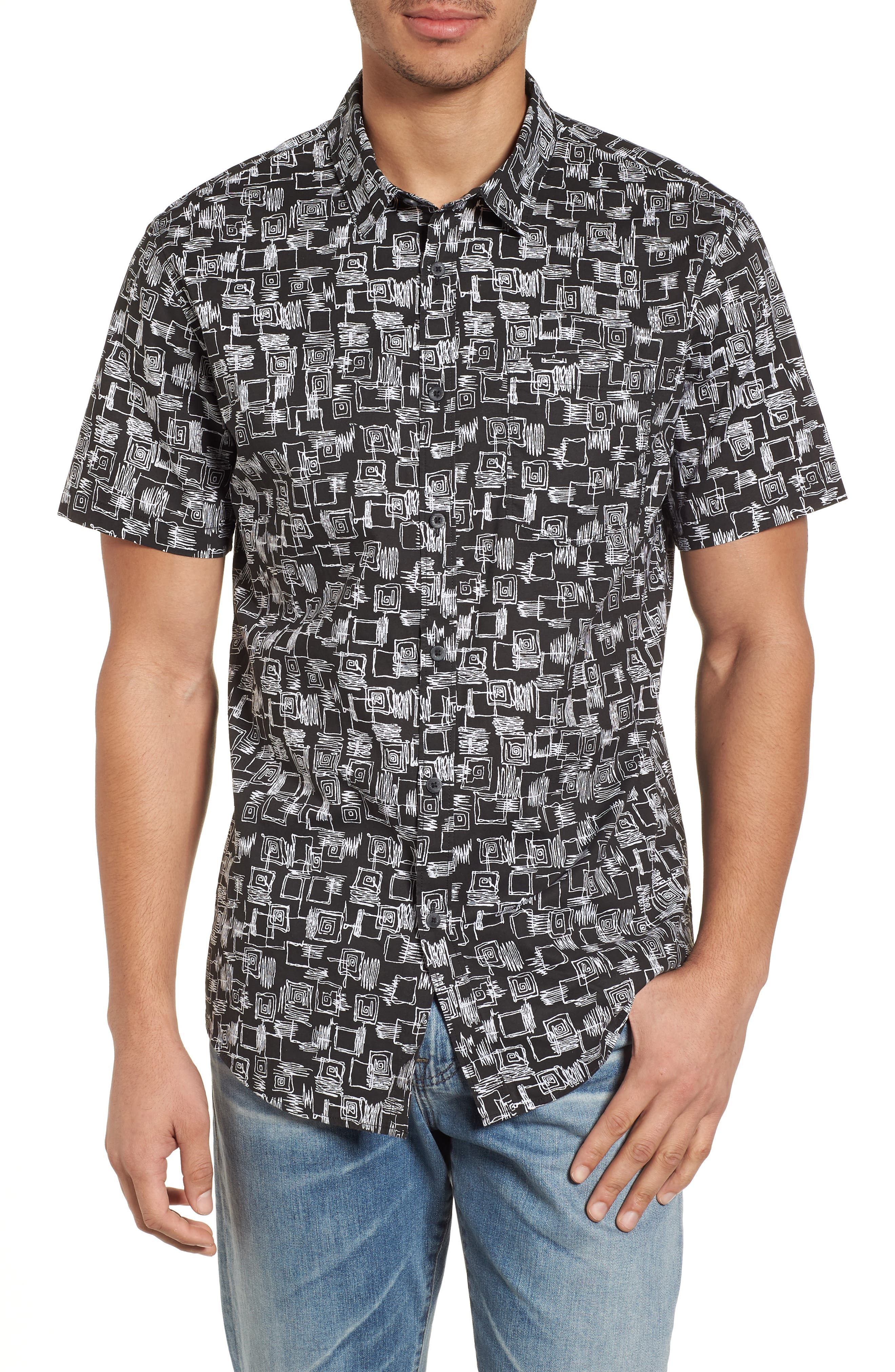 Sundays Mini Short Sleeve Shirt,                             Main thumbnail 1, color,                             Black