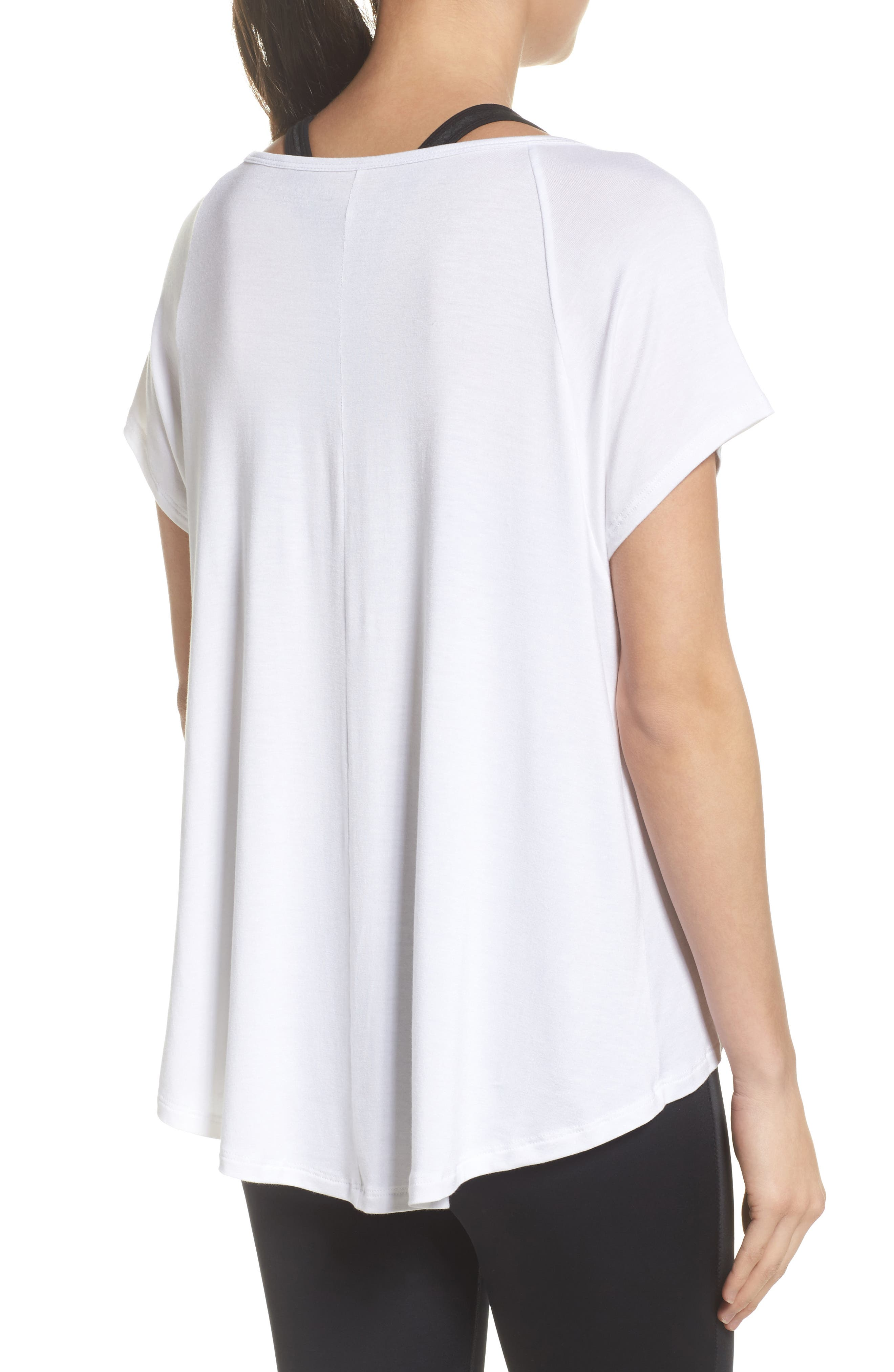 Slink Out Loud High/Low Tee,                             Alternate thumbnail 2, color,                             White