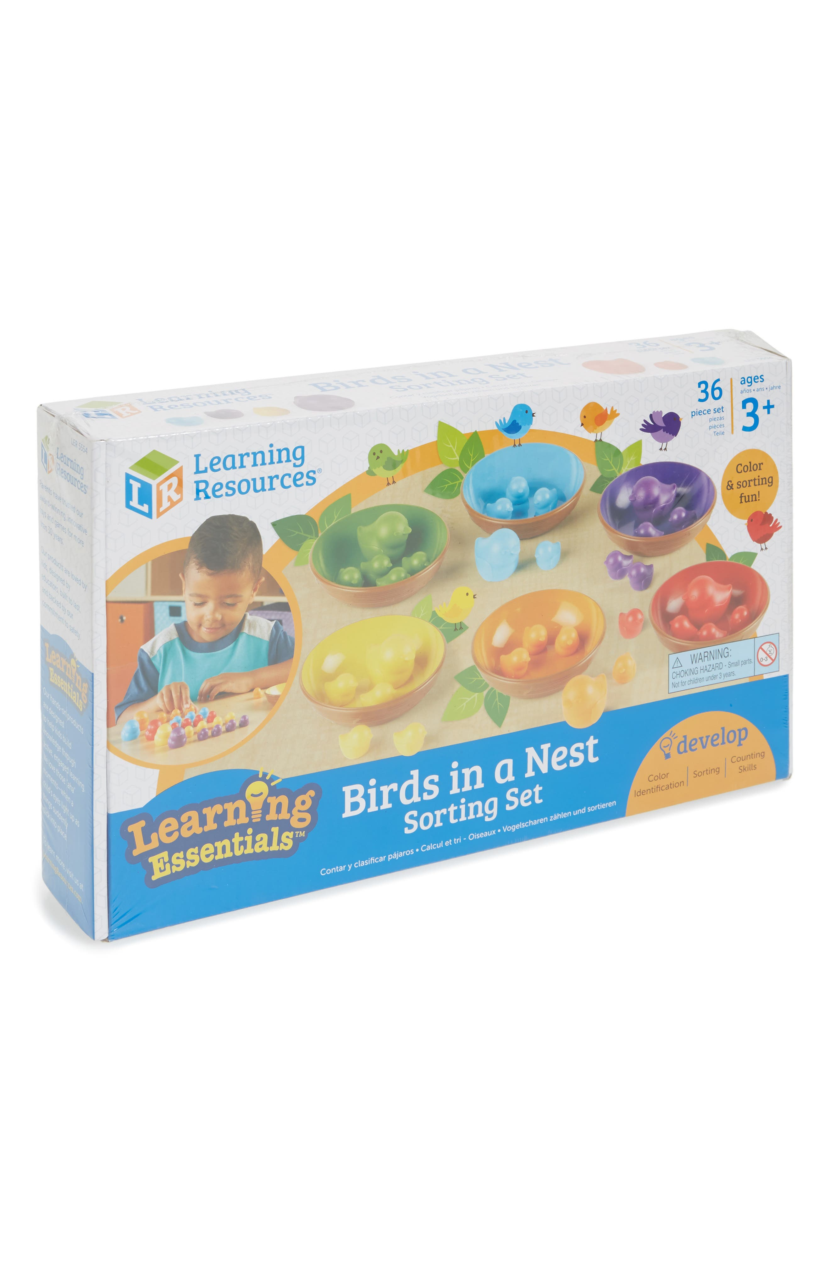 36-Piece Birds in a Nest Sorting Set,                         Main,                         color, Red