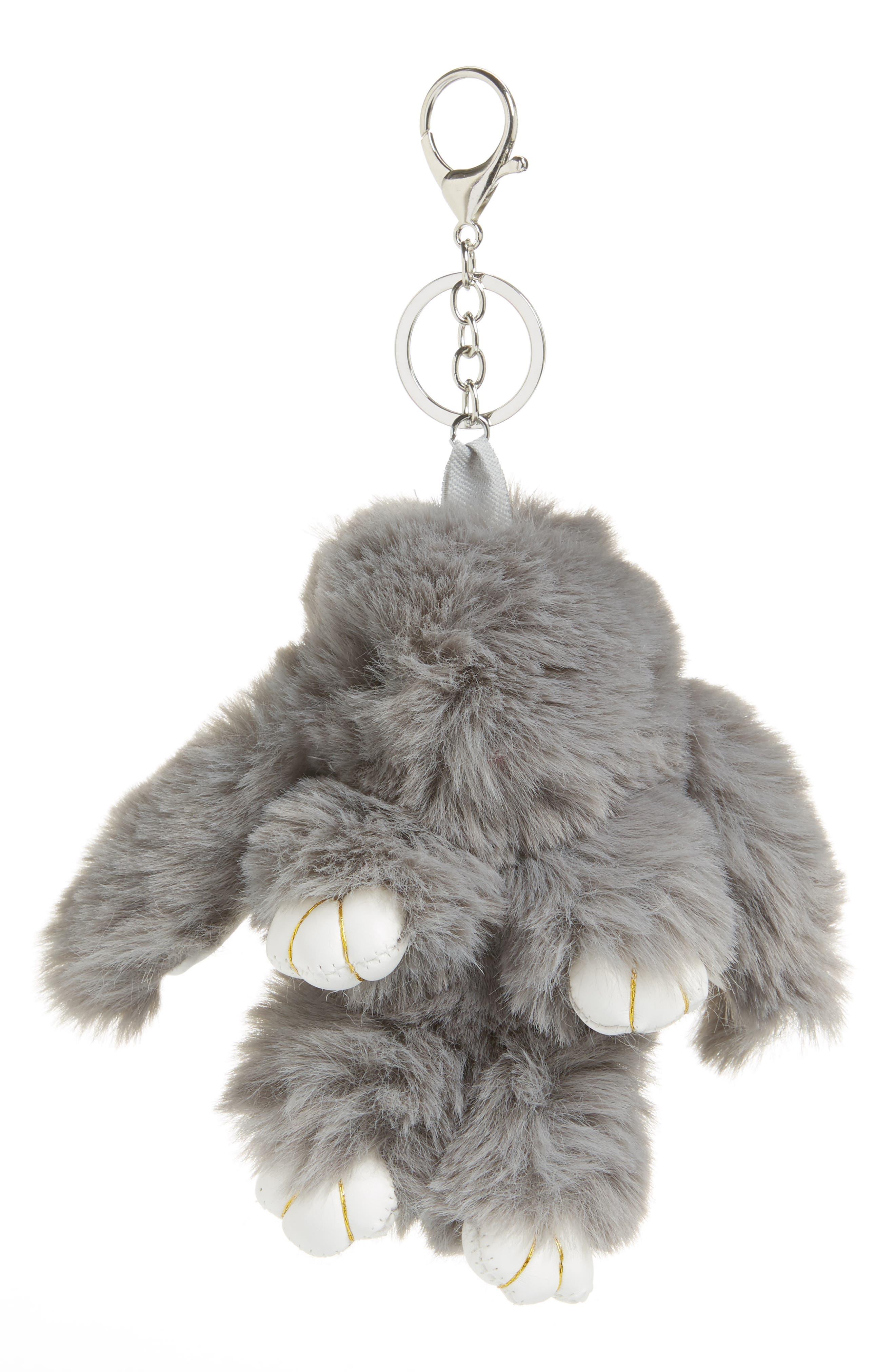 Topshop Fluffy Bunny Keyring