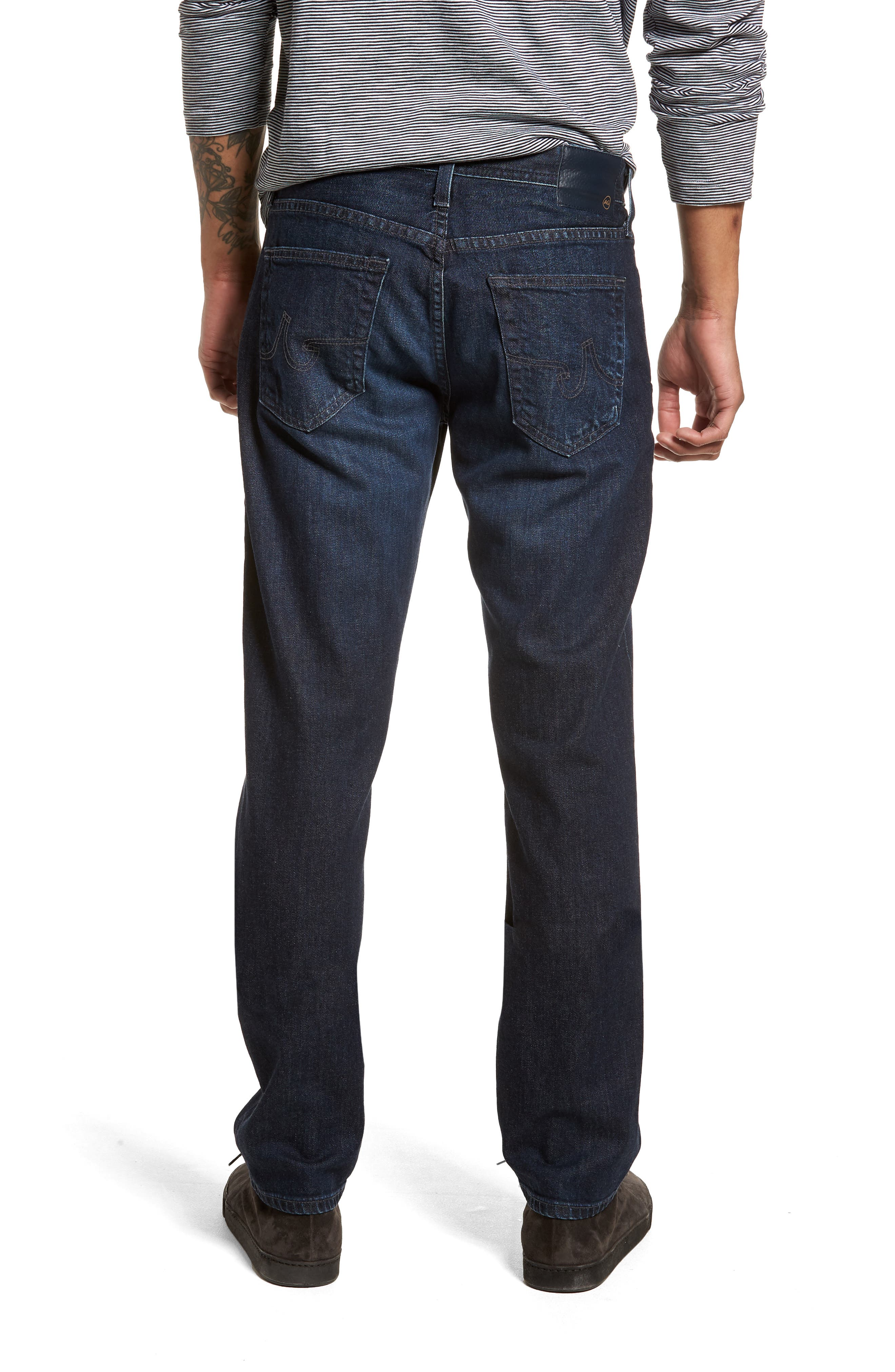 Graduate Slim Straight Leg Jeans,                             Alternate thumbnail 2, color,                             Stafford