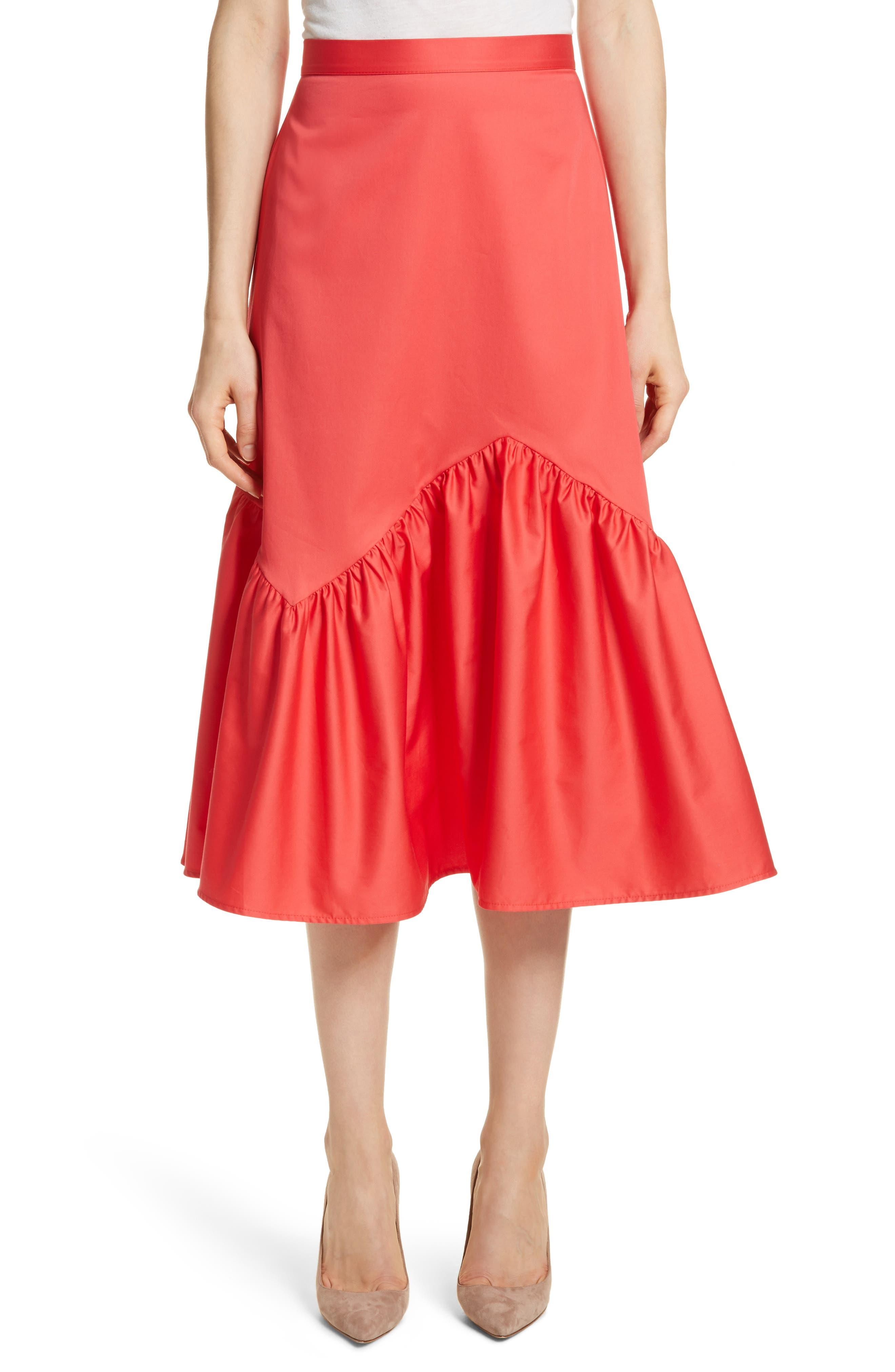 Prose & Poetry Tyra Midi Skirt,                             Main thumbnail 1, color,                             Watermelon