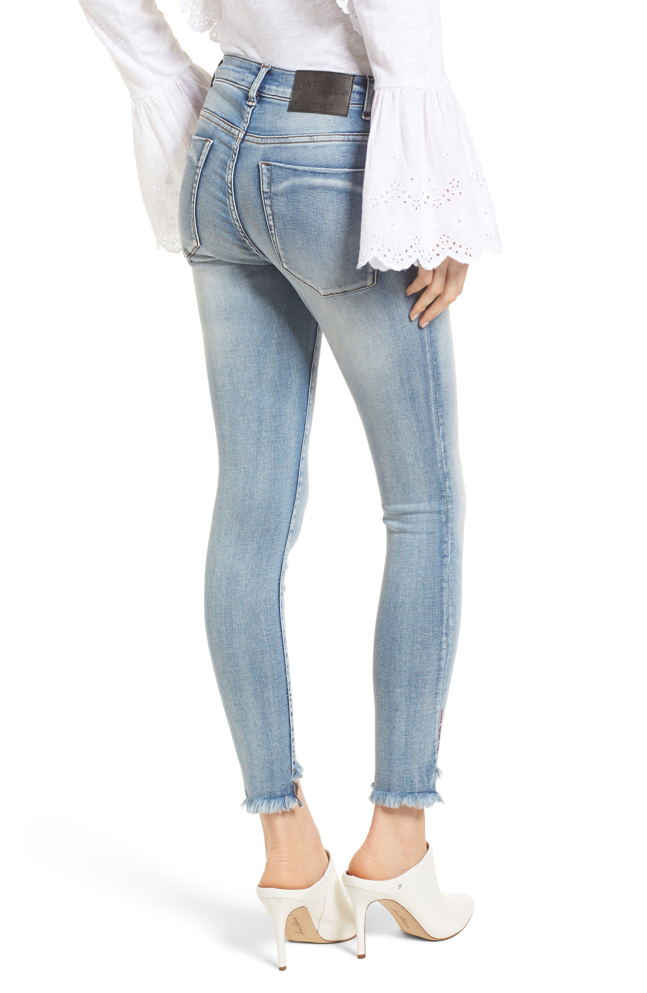 Freebirds Skinny Jeans,                             Alternate thumbnail 2, color,                             Cobaine