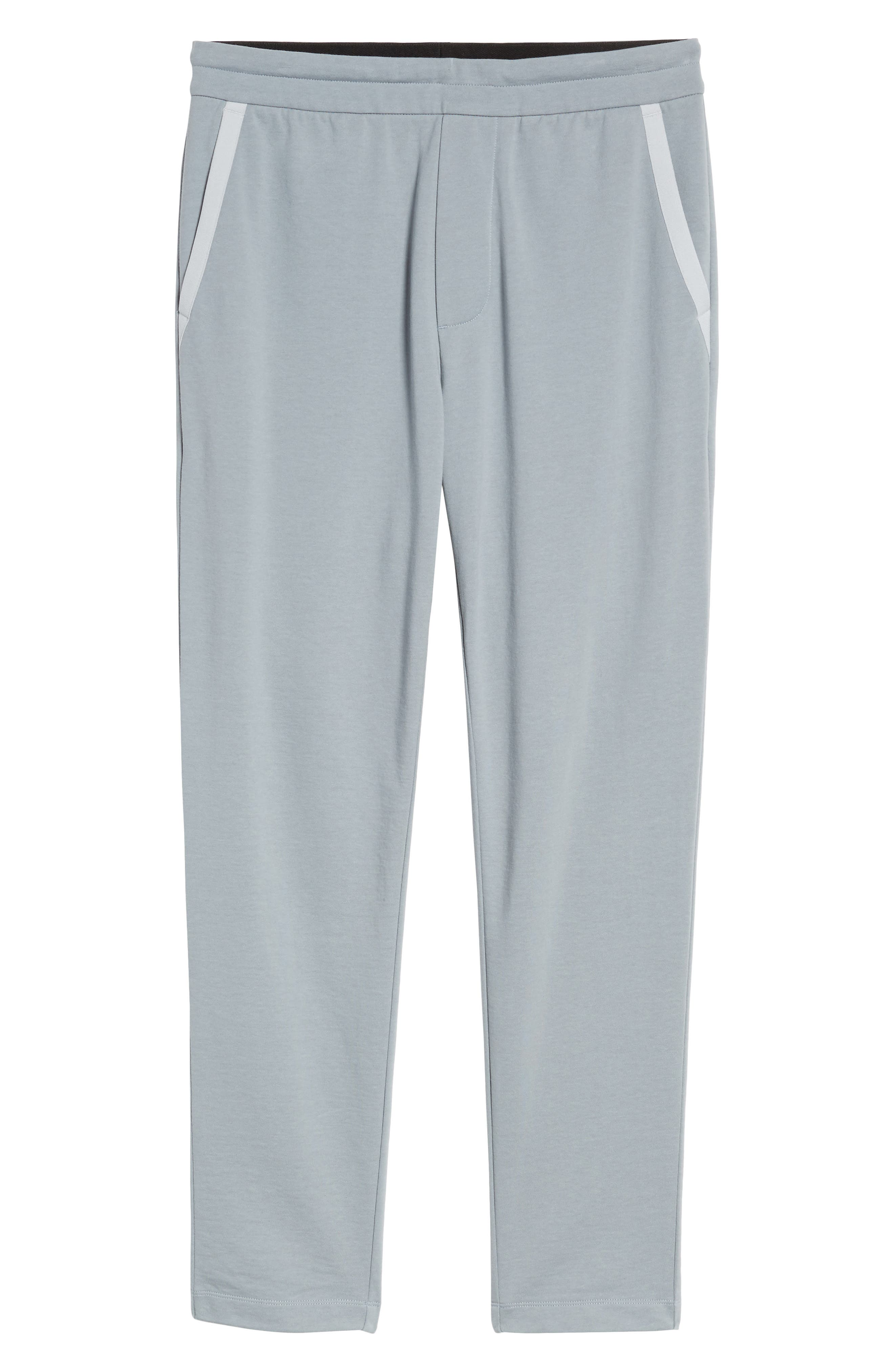 Cotton Pants,                             Alternate thumbnail 6, color,                             Grey Sky/ Light Grey