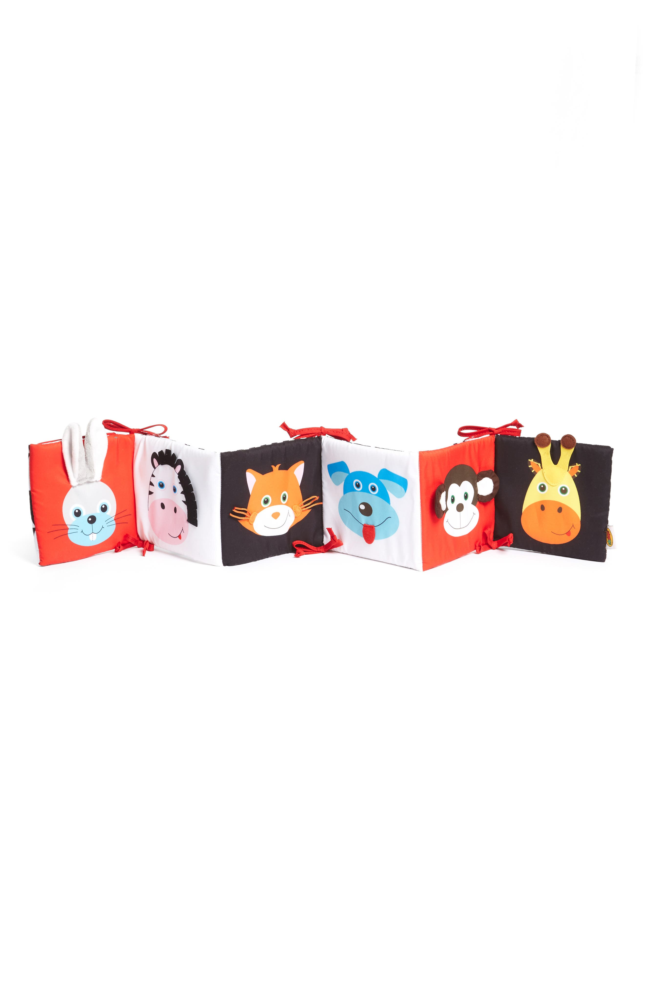 Look and Feel Accordion Fold Baby Book,                             Alternate thumbnail 2, color,                             White/ Red