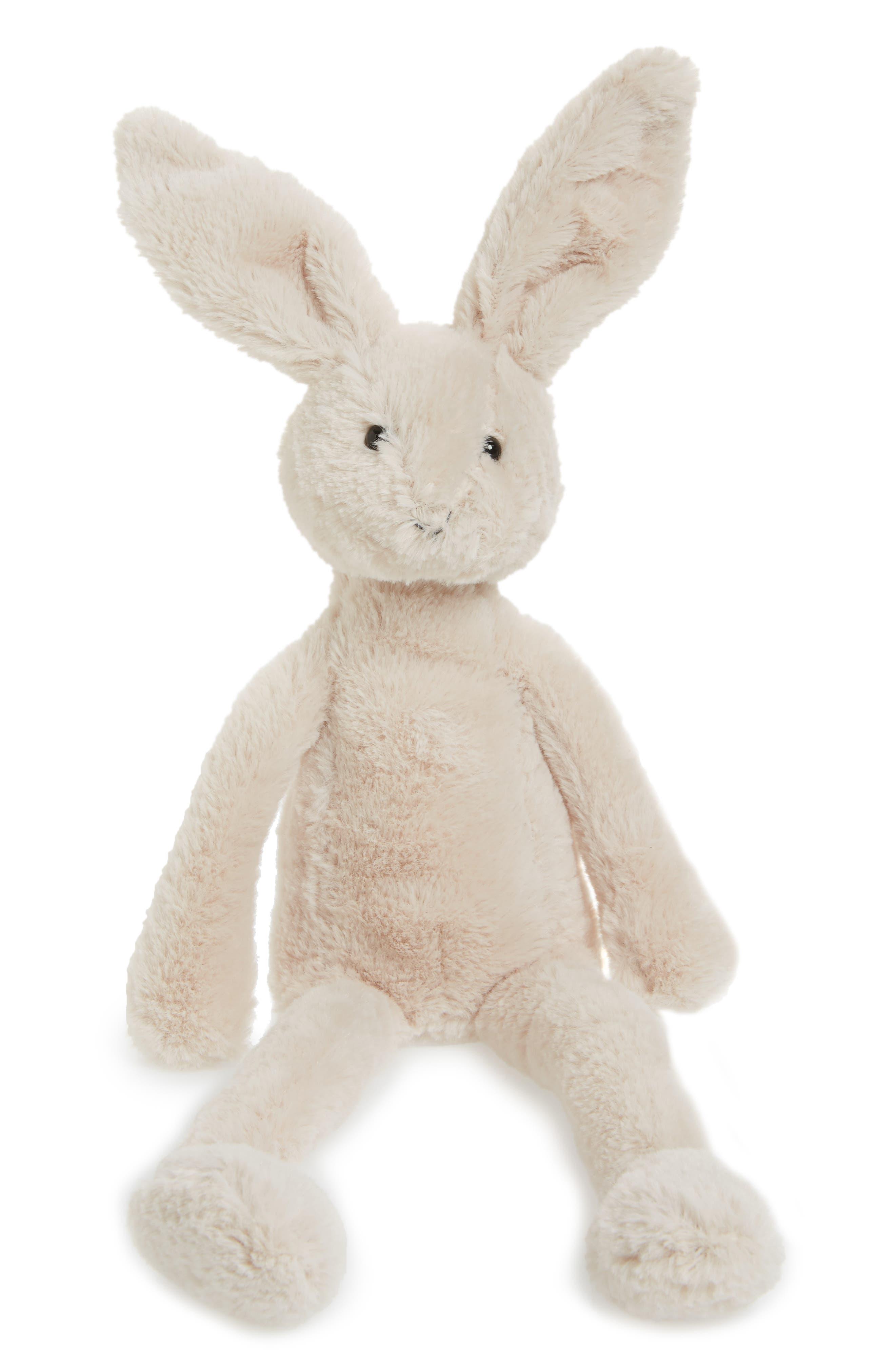 Pitterpat Bunny Stuffed Animal,                             Main thumbnail 1, color,                             Cream