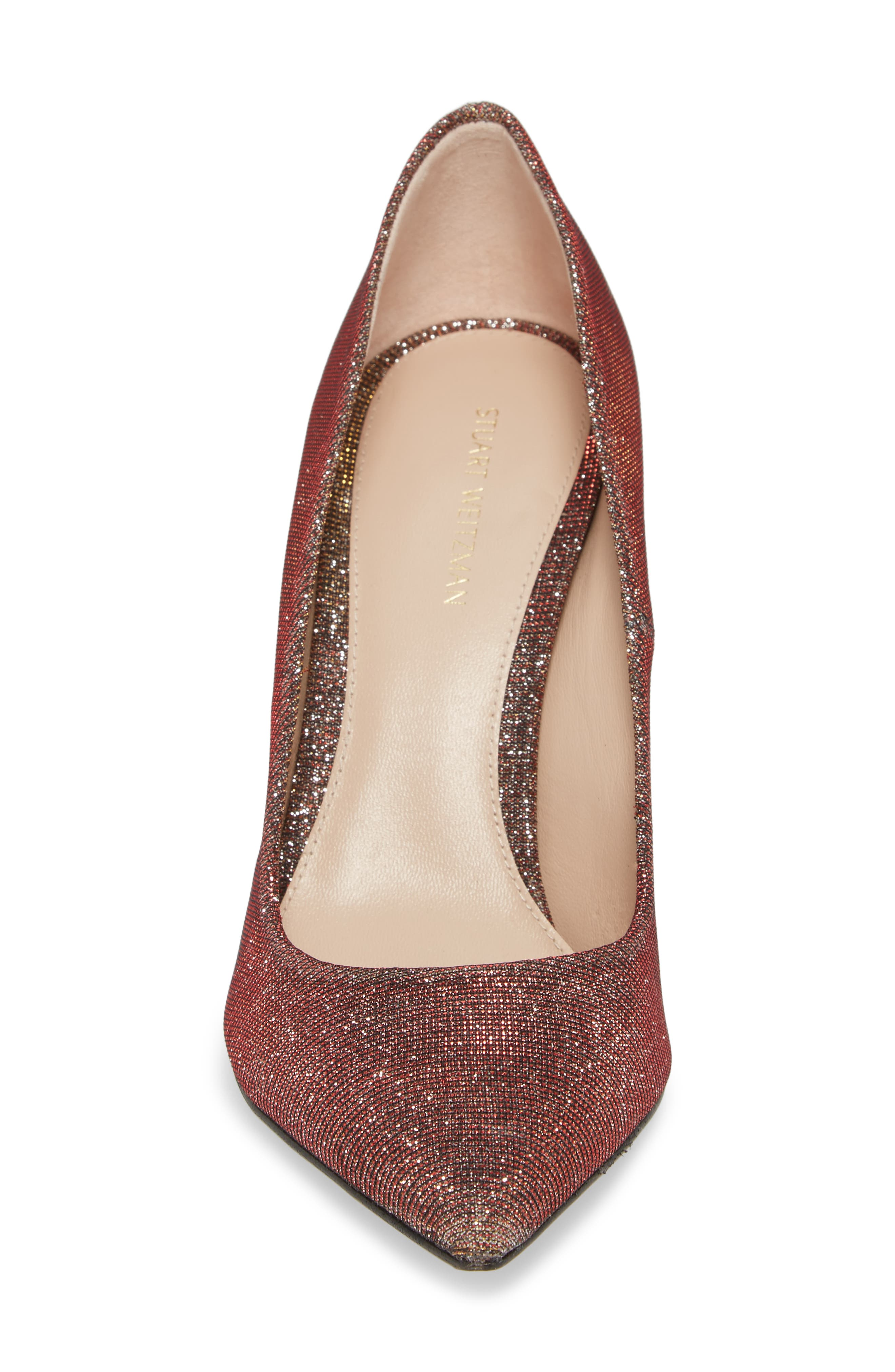 Chicster Pointy Toe Pump,                             Alternate thumbnail 4, color,                             Bronze Nighttime