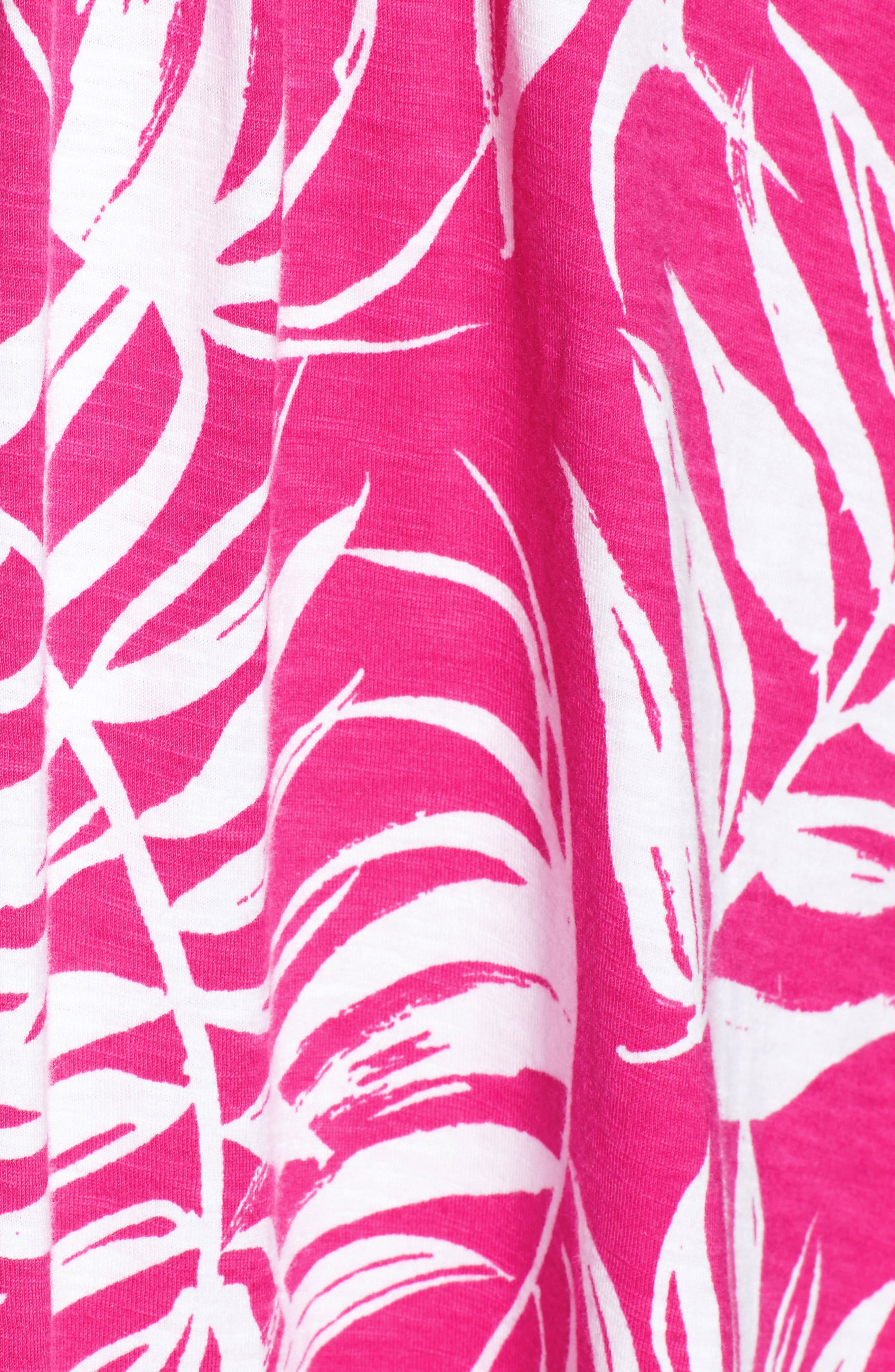 Fronds with Benefits Dress,                             Alternate thumbnail 5, color,                             Bright Blush