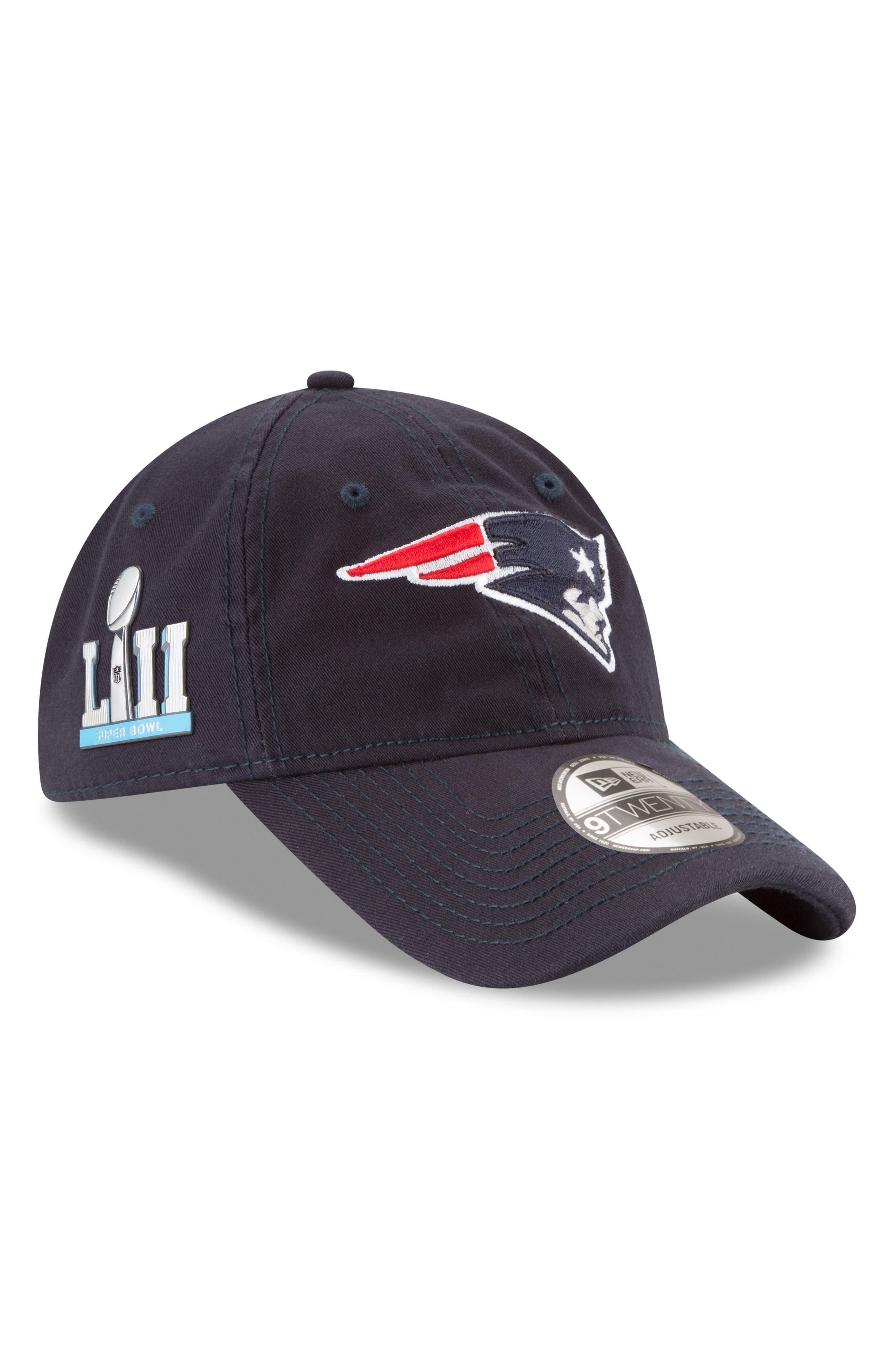 NFL Super Bowl LII Cap,                             Main thumbnail 1, color,                             New England Patriots
