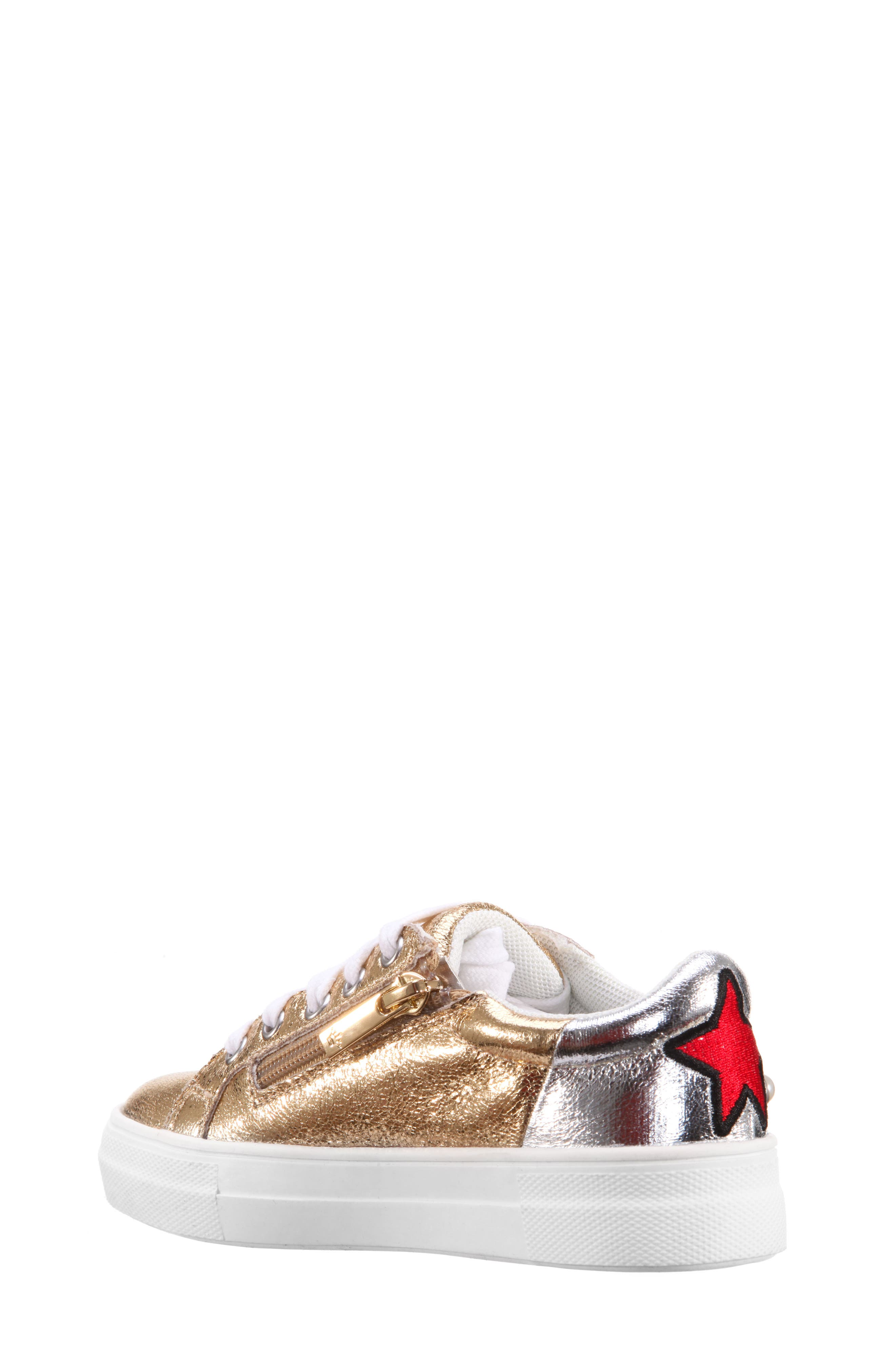 Kryslyn Metallic Sneaker,                             Alternate thumbnail 2, color,                             Platino Crackle