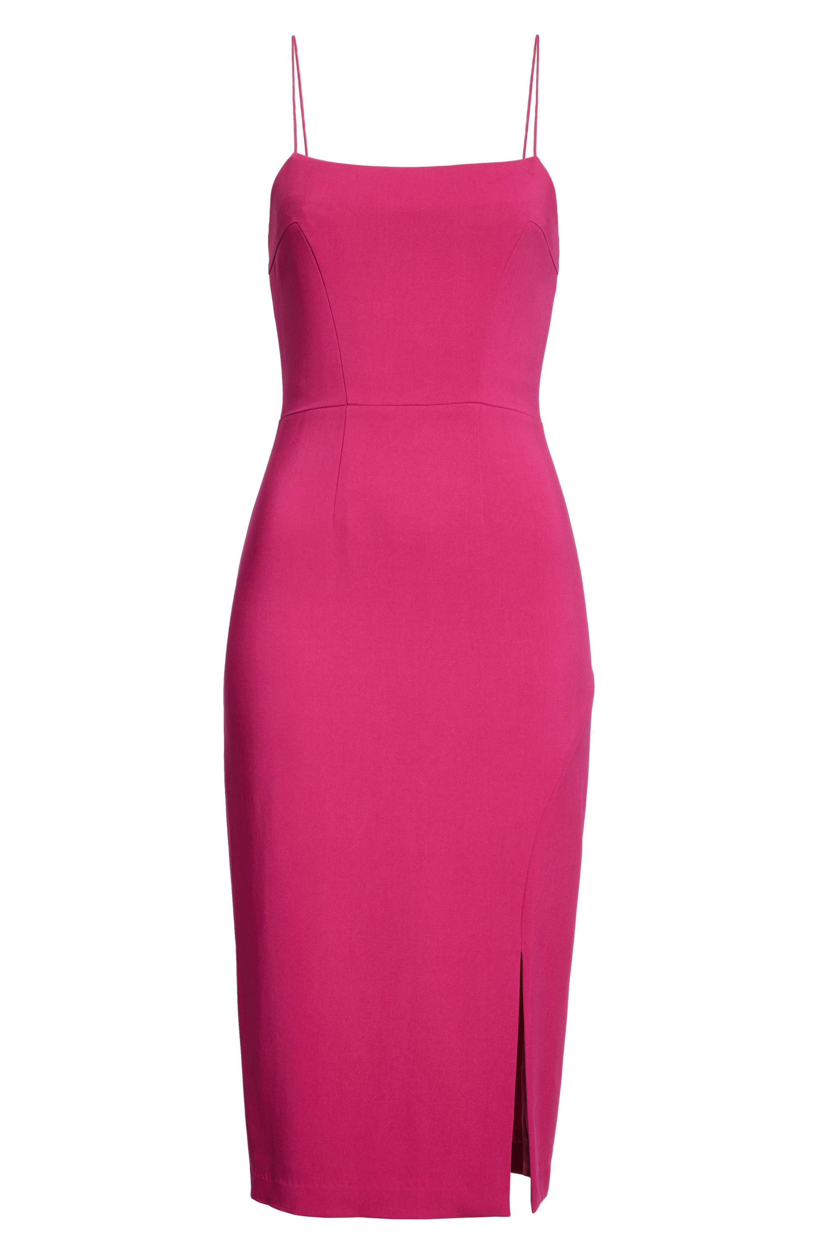 Slip Sheath Dress,                             Alternate thumbnail 6, color,                             Cyclamen