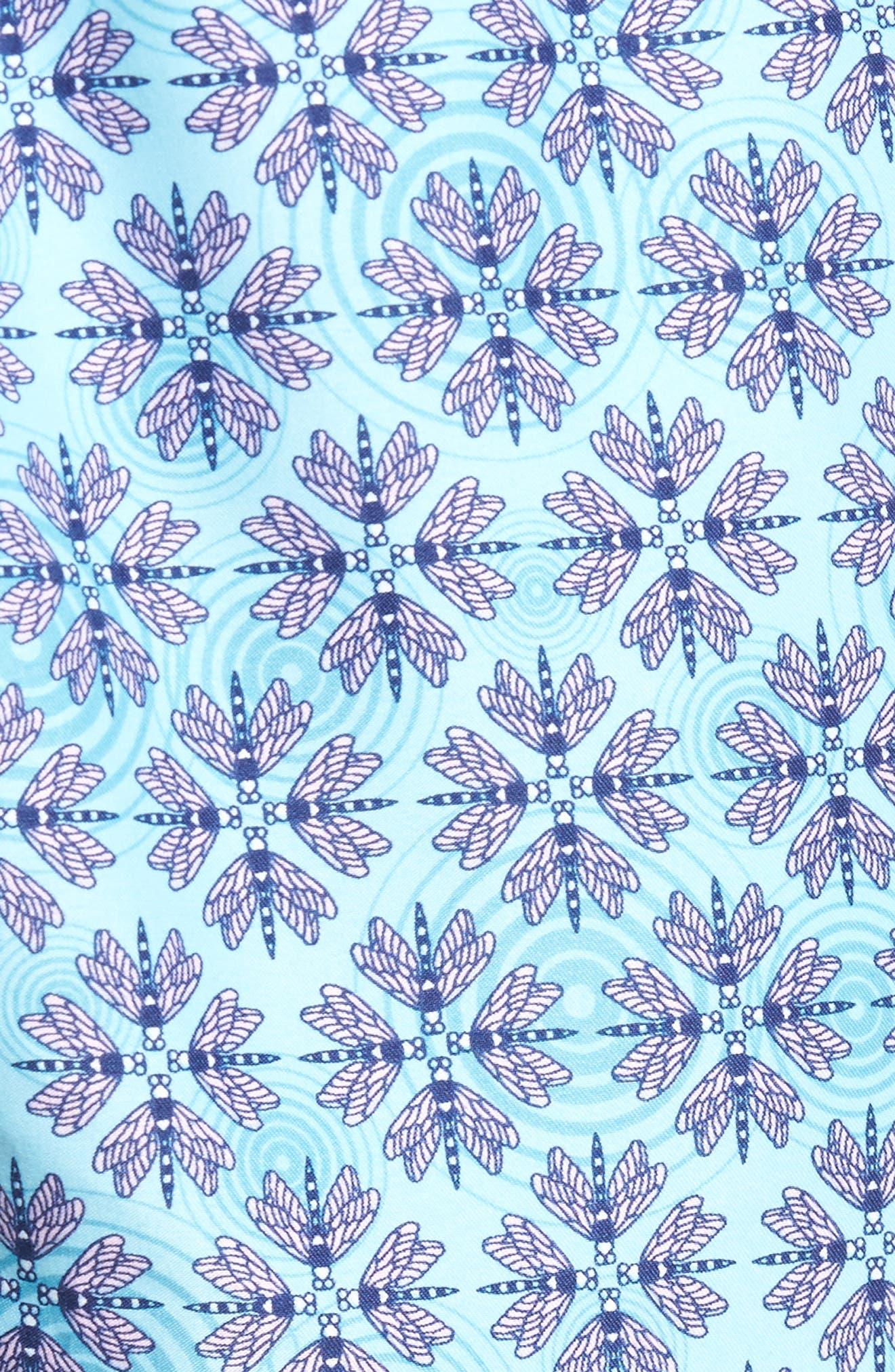 Dragonflies Swim Shorts,                             Alternate thumbnail 5, color,                             Watercress