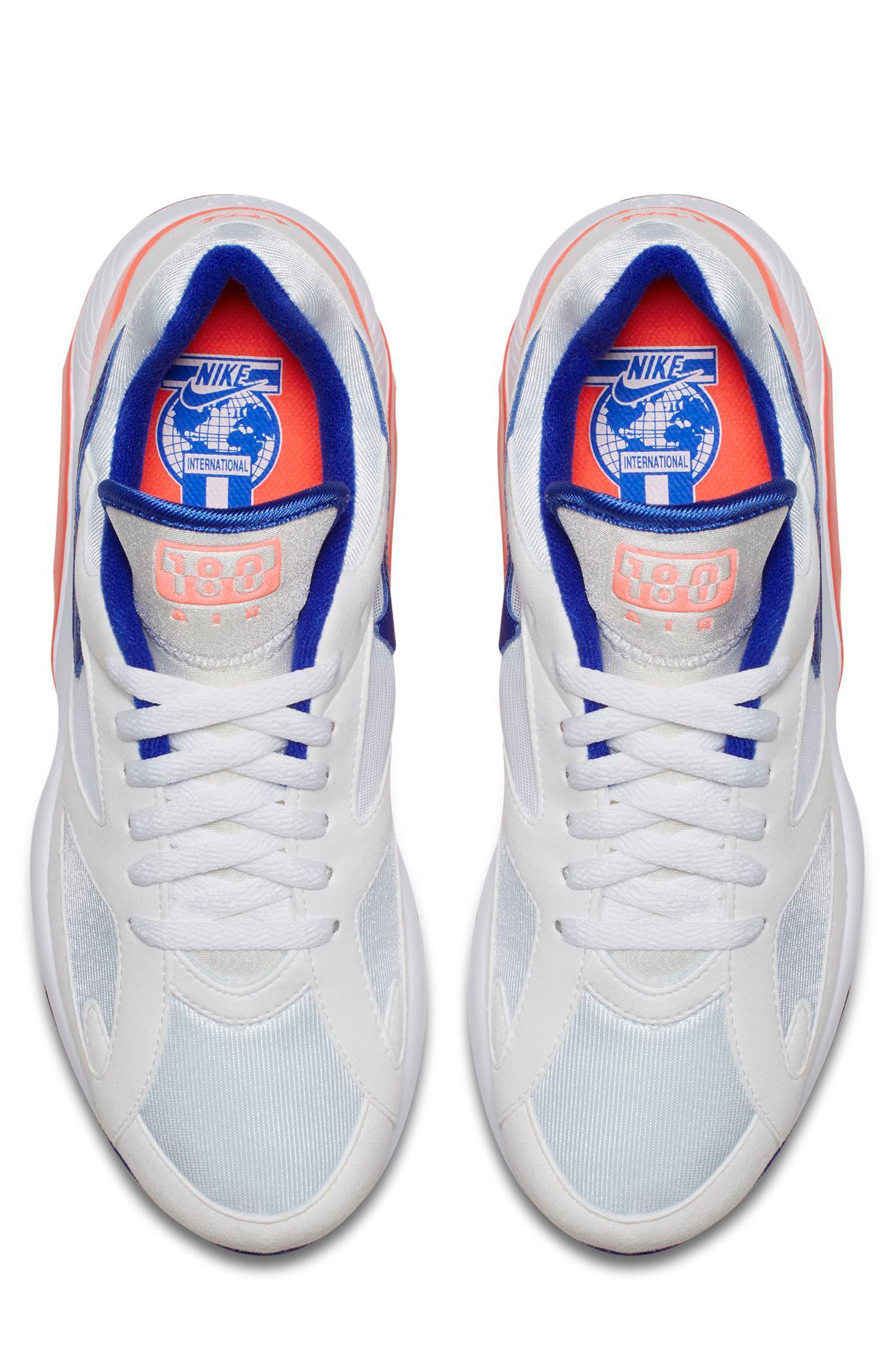 Air Max 180 Sneaker,                             Alternate thumbnail 4, color,                             White/ Ultramarine