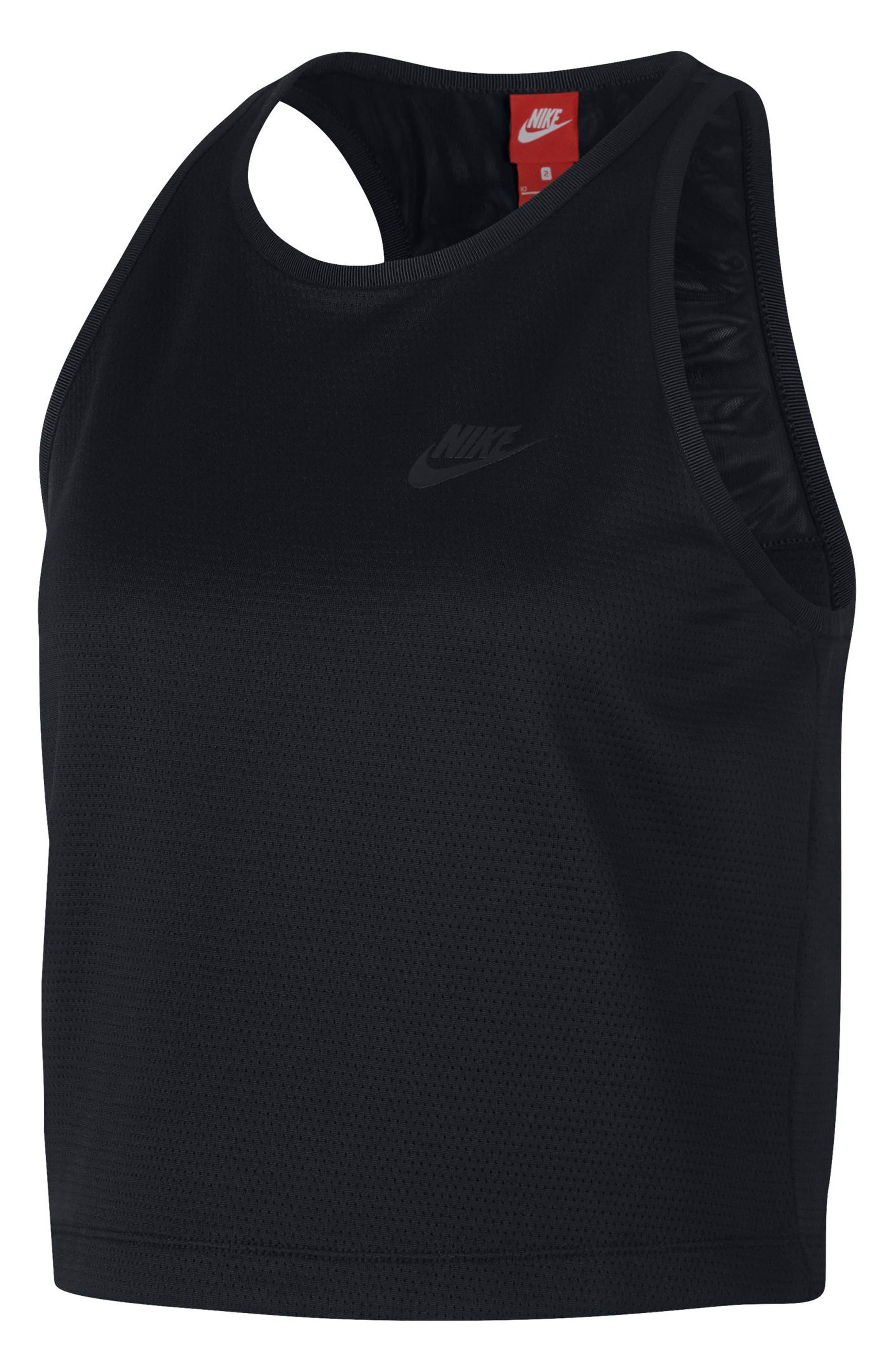 Sportswear Tech Fleece Women's Crop Tank,                         Main,                         color, Black/ Black