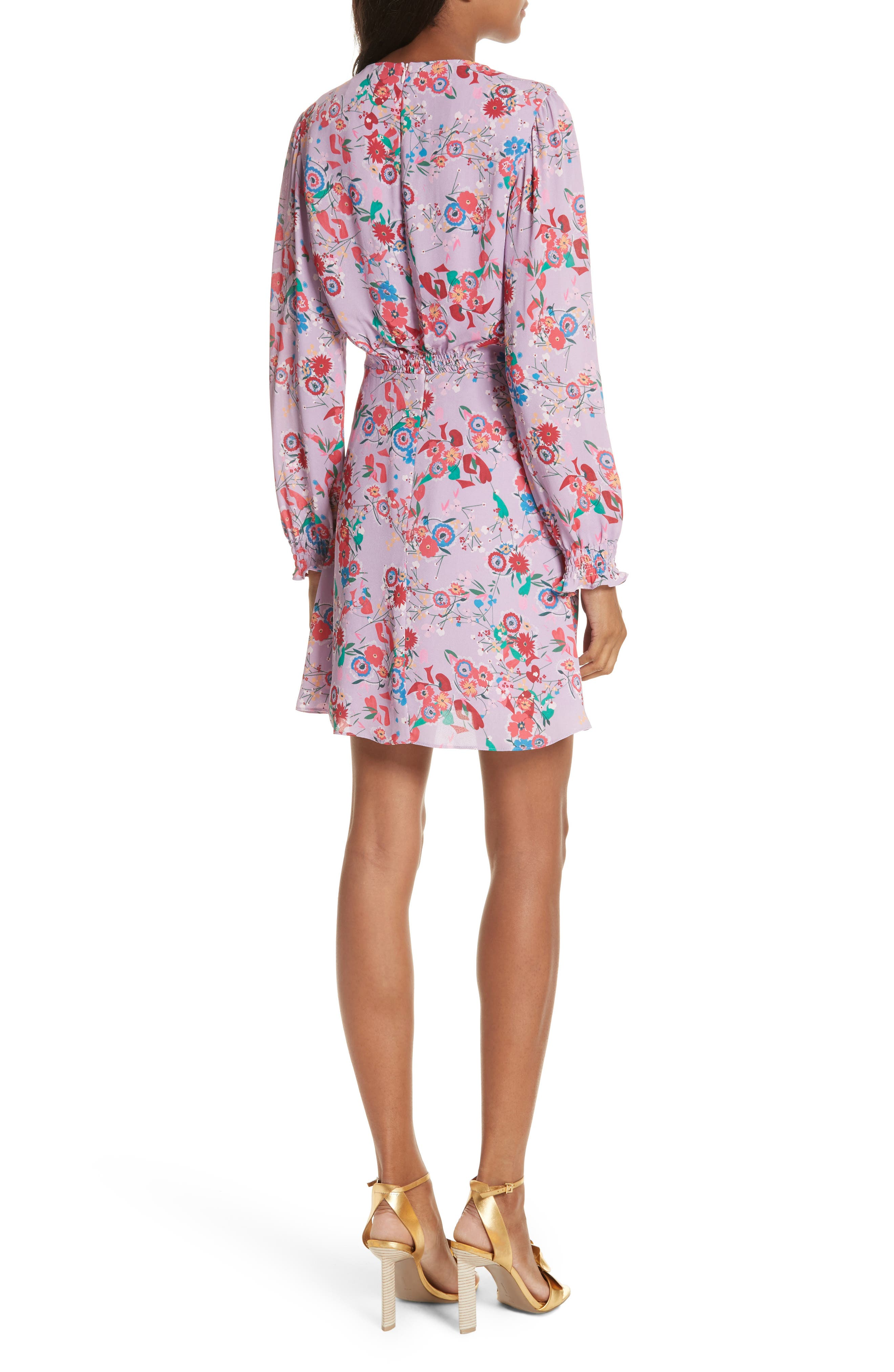 Eve Floral Print Dress,                             Alternate thumbnail 2, color,                             Lilac Pimpernel