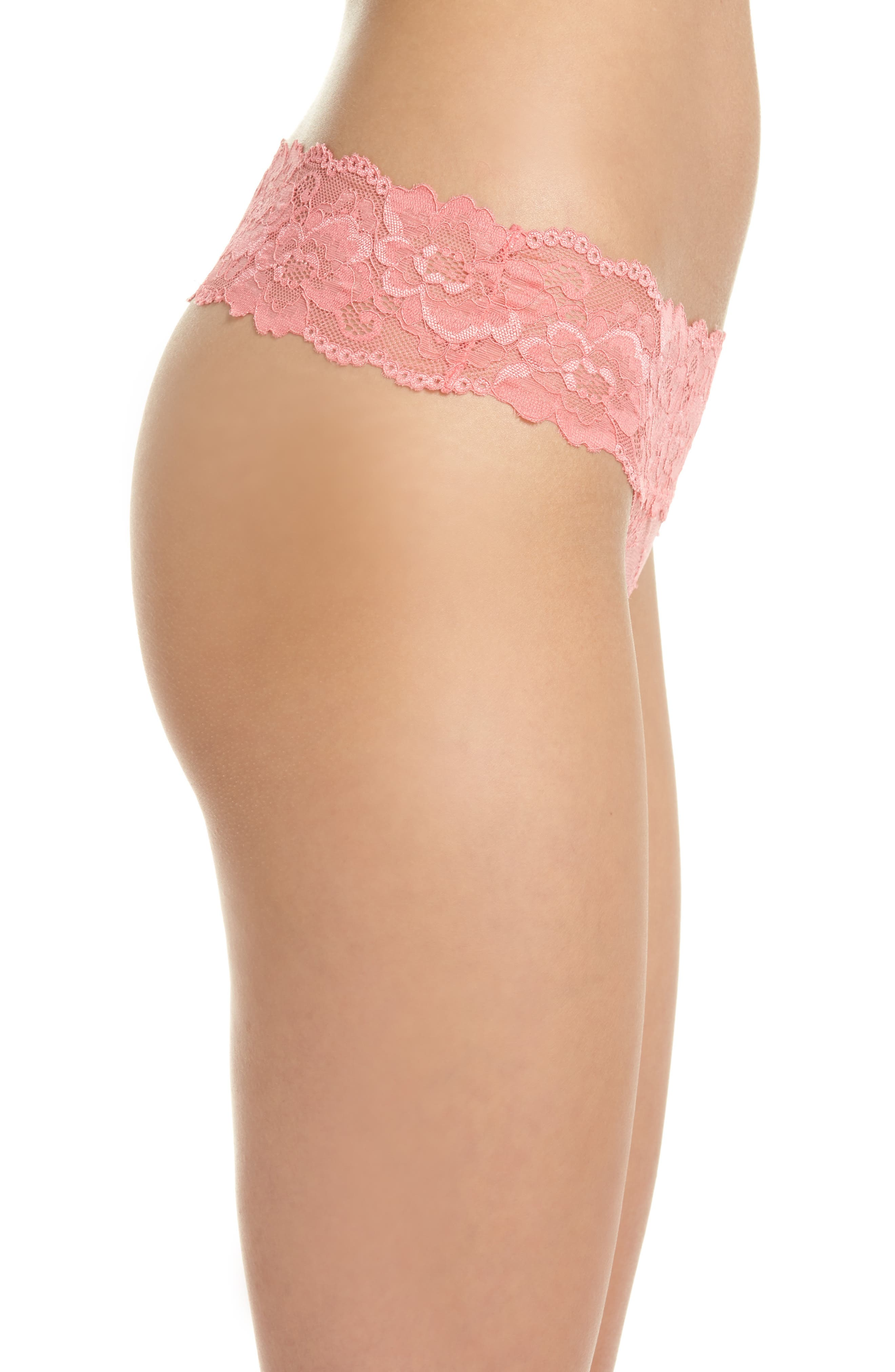 Alternate Image 3  - Honeydew Lace Thong (3 for $33)