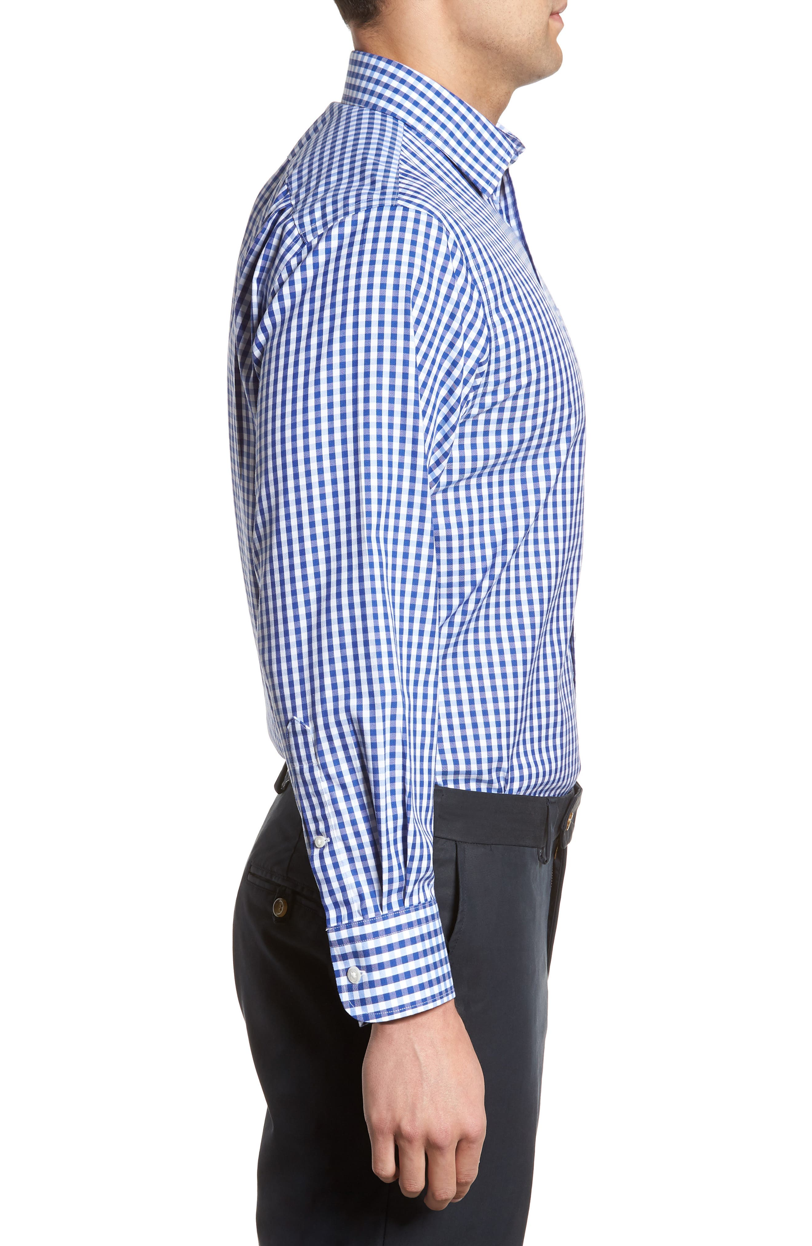 Smartcare<sup>™</sup> Traditional Fit Check Dress Shirt,                             Alternate thumbnail 4, color,                             Blue Mazarine