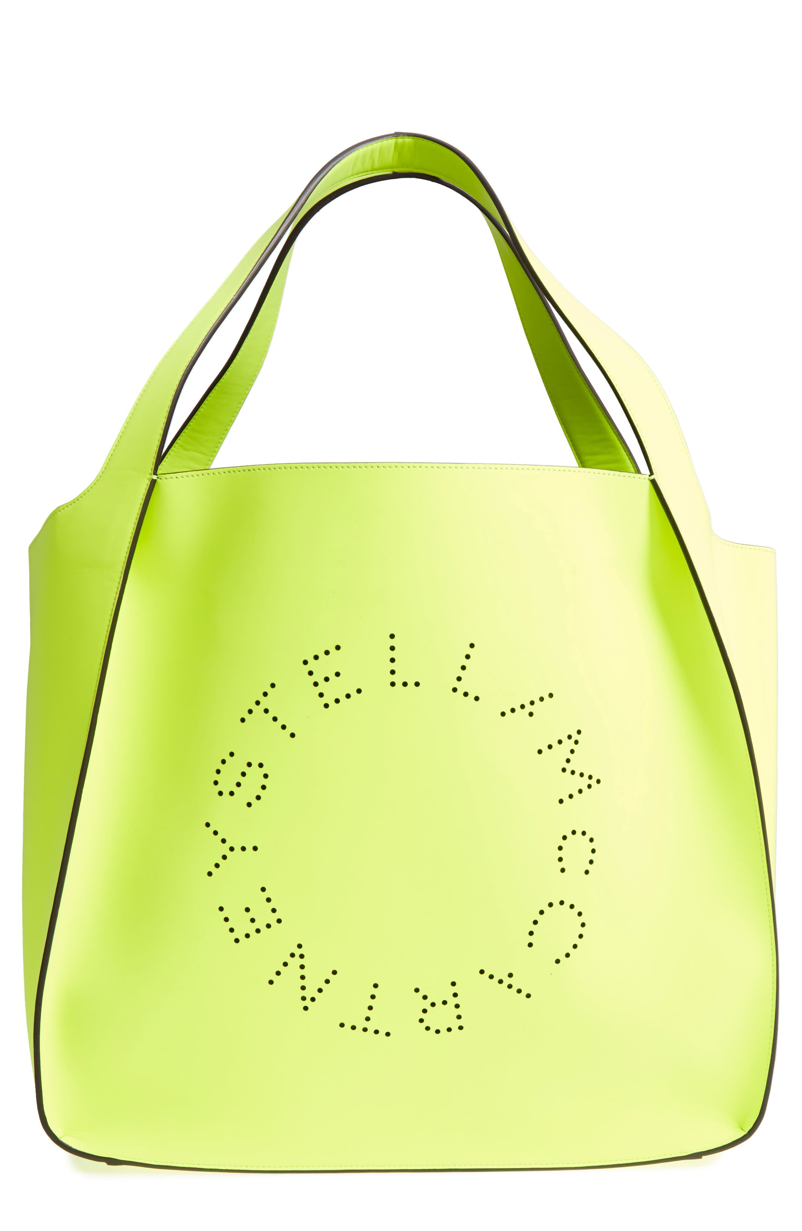 Stella McCartney Extra Large Perforated Logo Faux Leather Tote