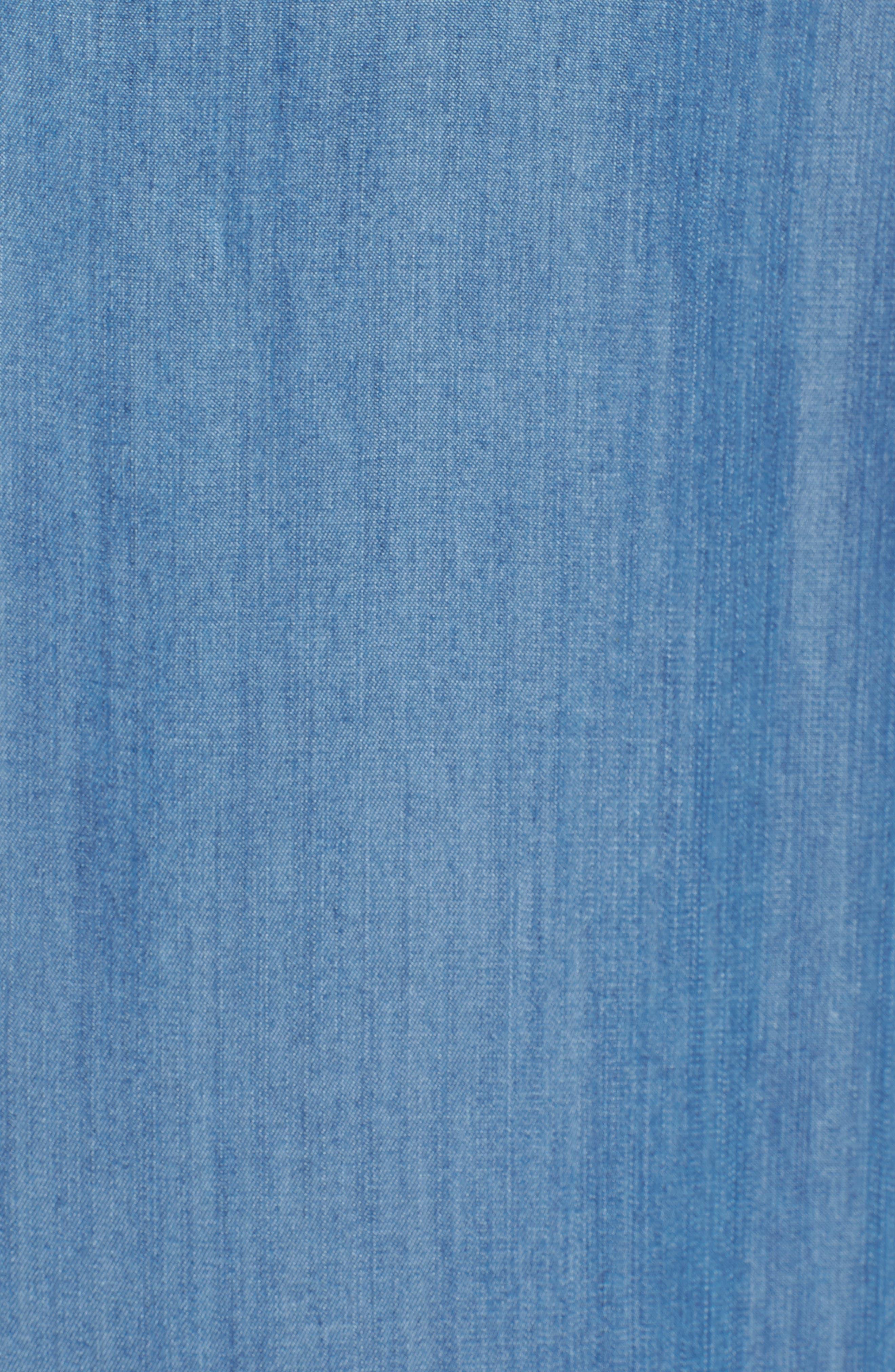 Sleeveless Back Cutout Shirtdress,                             Alternate thumbnail 5, color,                             Blue