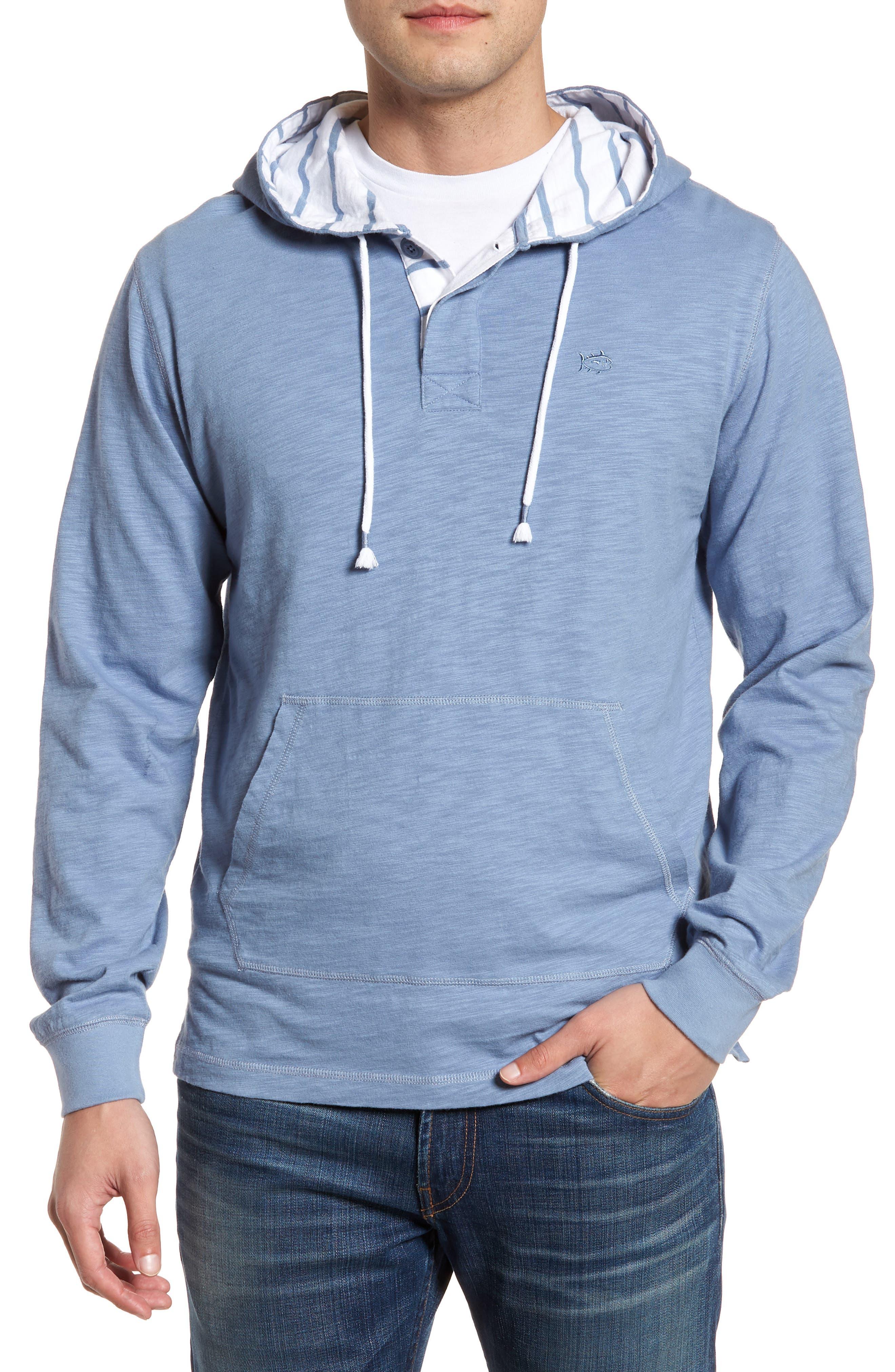 Ocean Course Slub Cotton Hoodie,                         Main,                         color, Squall Grey