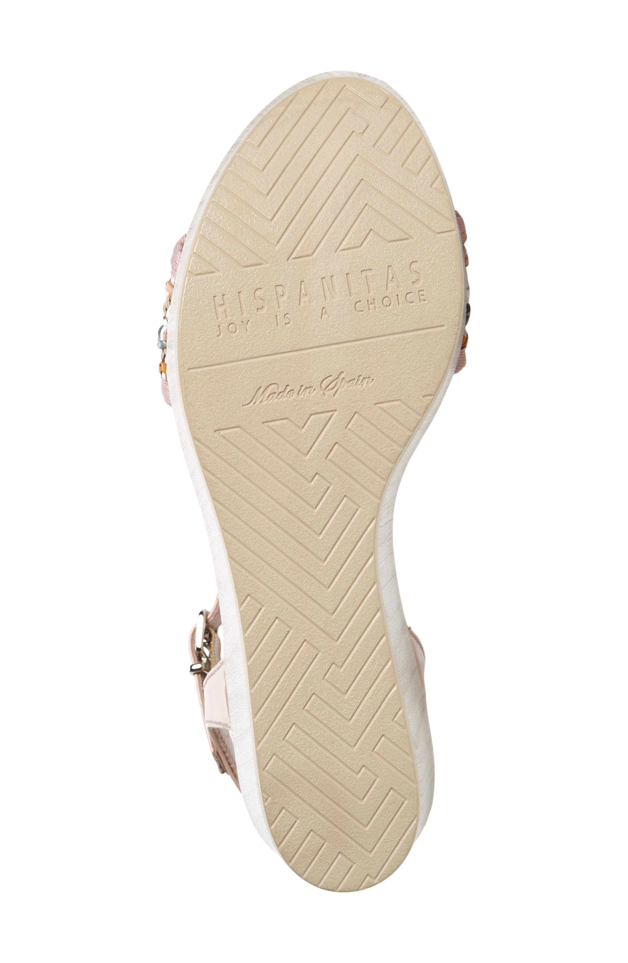 Colbi Platform Wedge Sandal,                             Alternate thumbnail 6, color,                             Amalfittana Leather