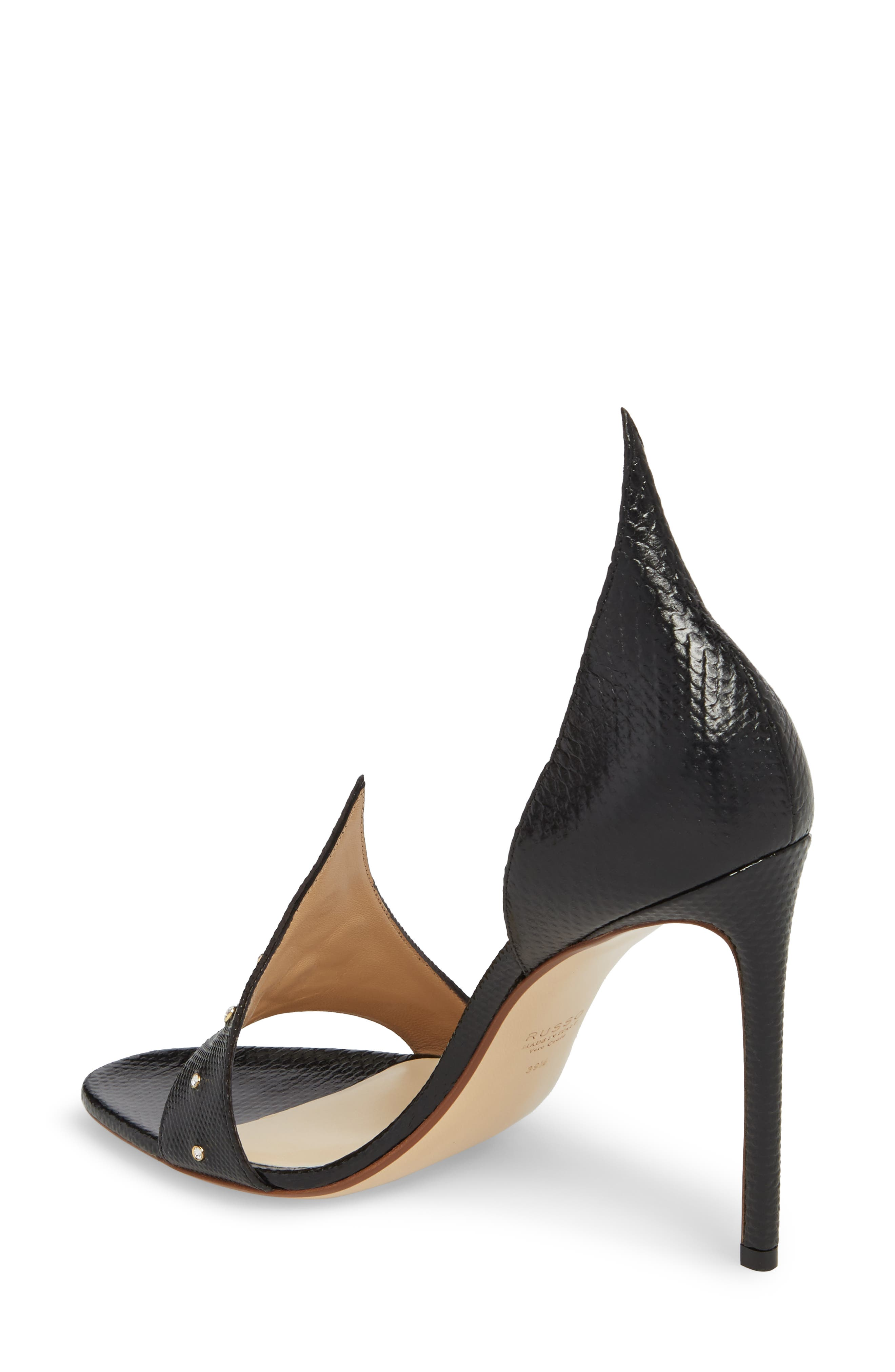 Flame Studded Sandal,                             Alternate thumbnail 2, color,                             Black