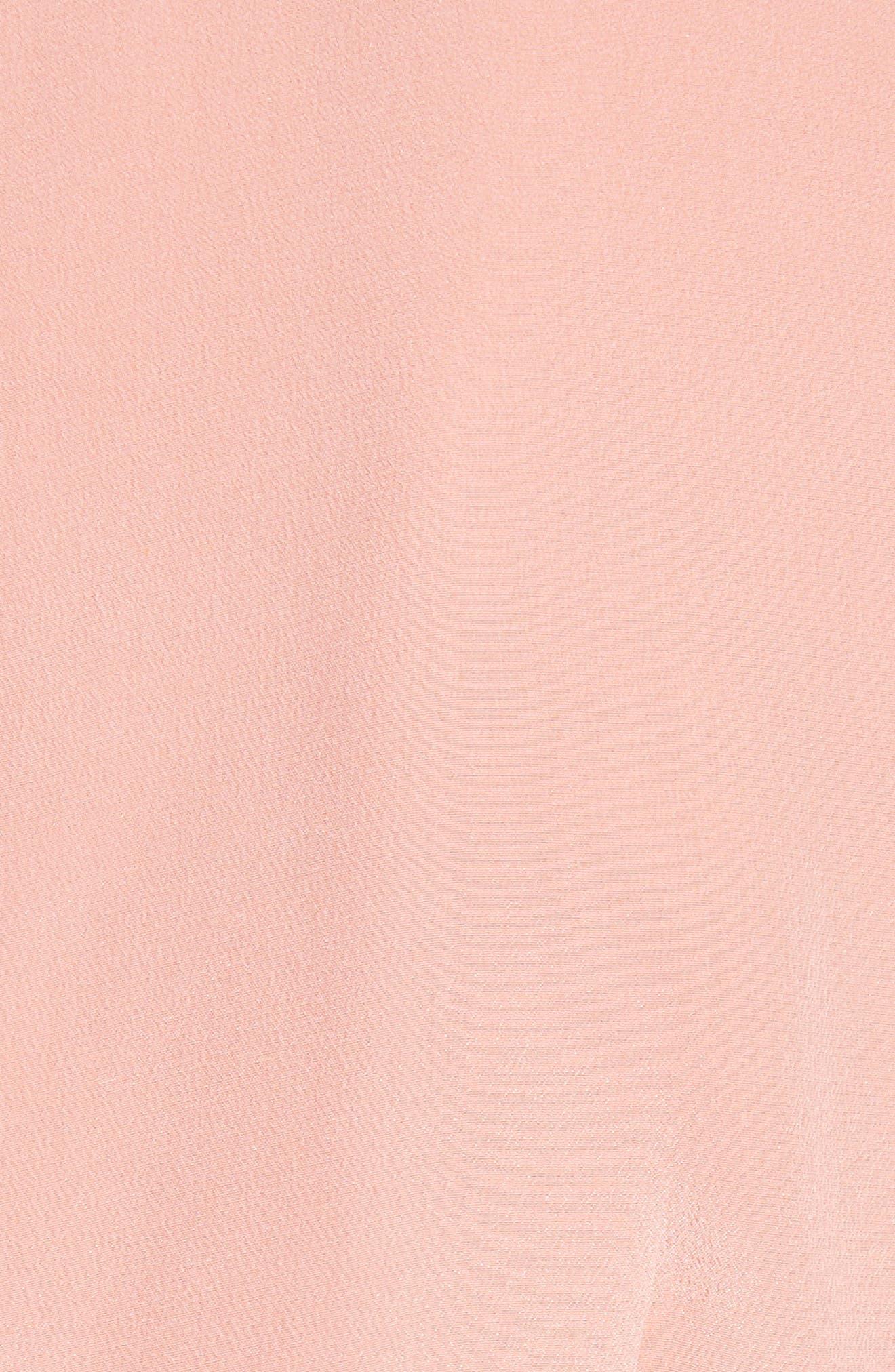 Aquanetta Silk Peplum Top,                             Alternate thumbnail 5, color,                             Baci