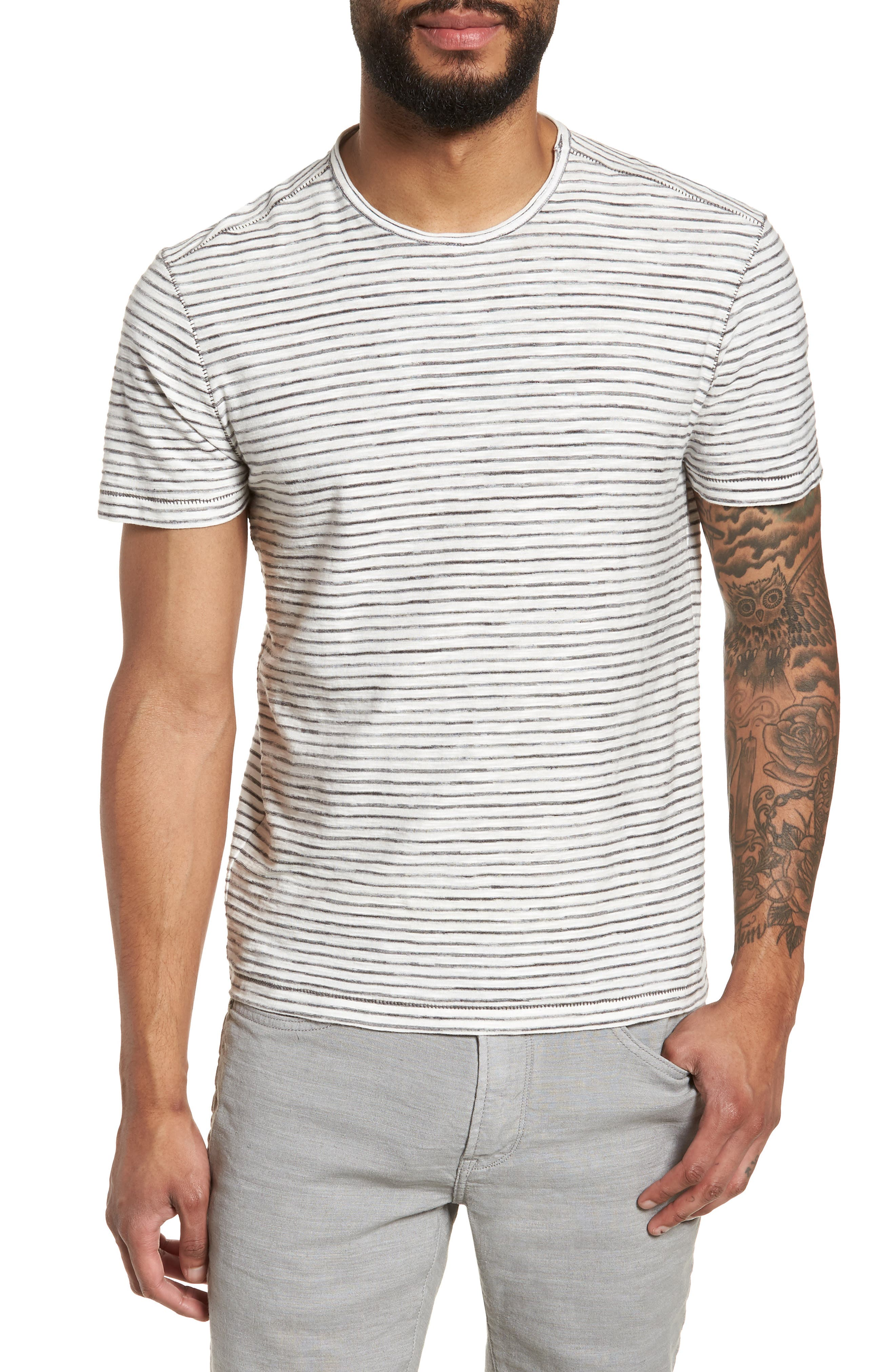 Slim Fit T-Shirt,                             Main thumbnail 1, color,                             White