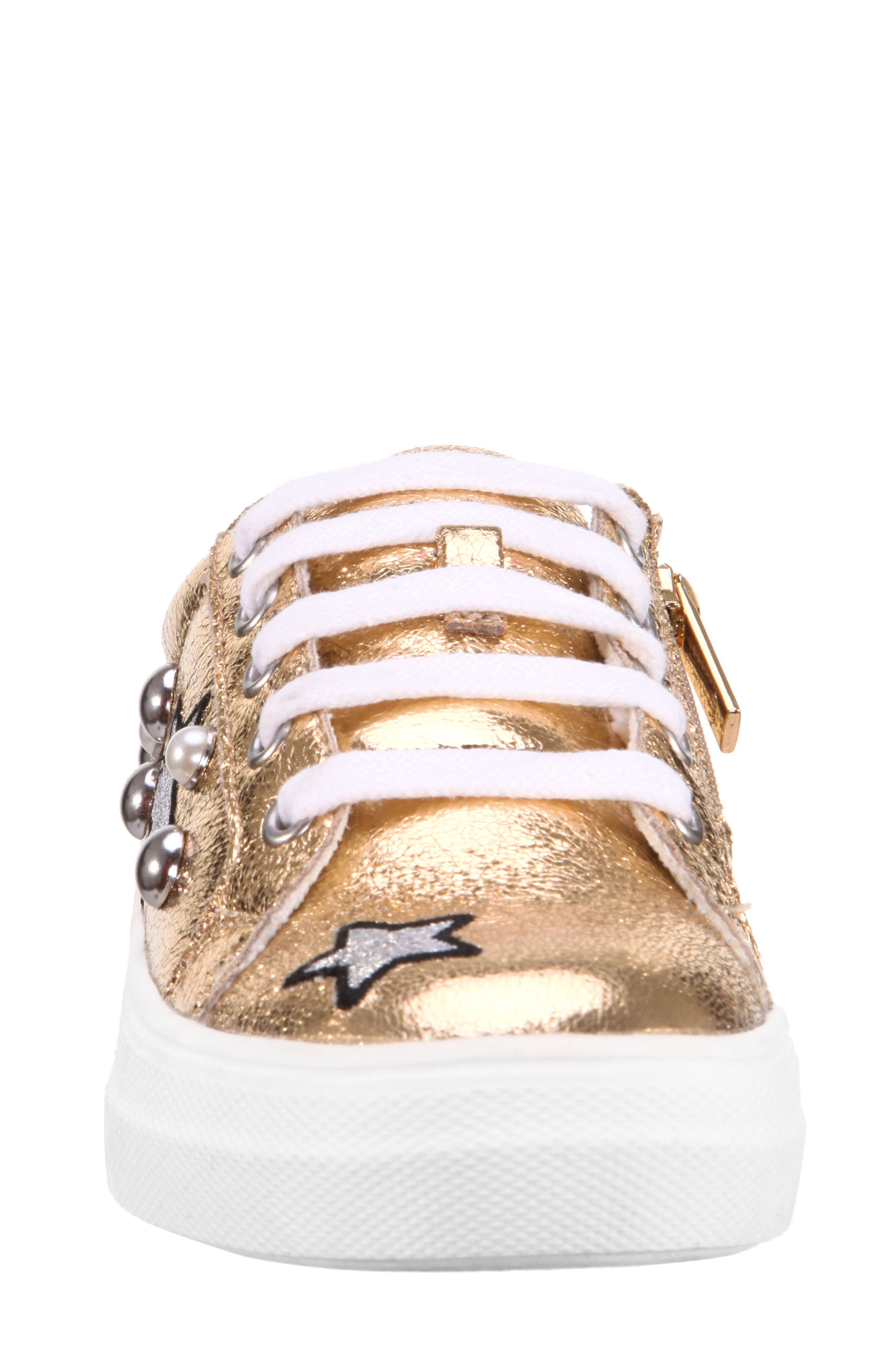 Kryslyn Metallic Sneaker,                             Alternate thumbnail 4, color,                             Platino Crackle