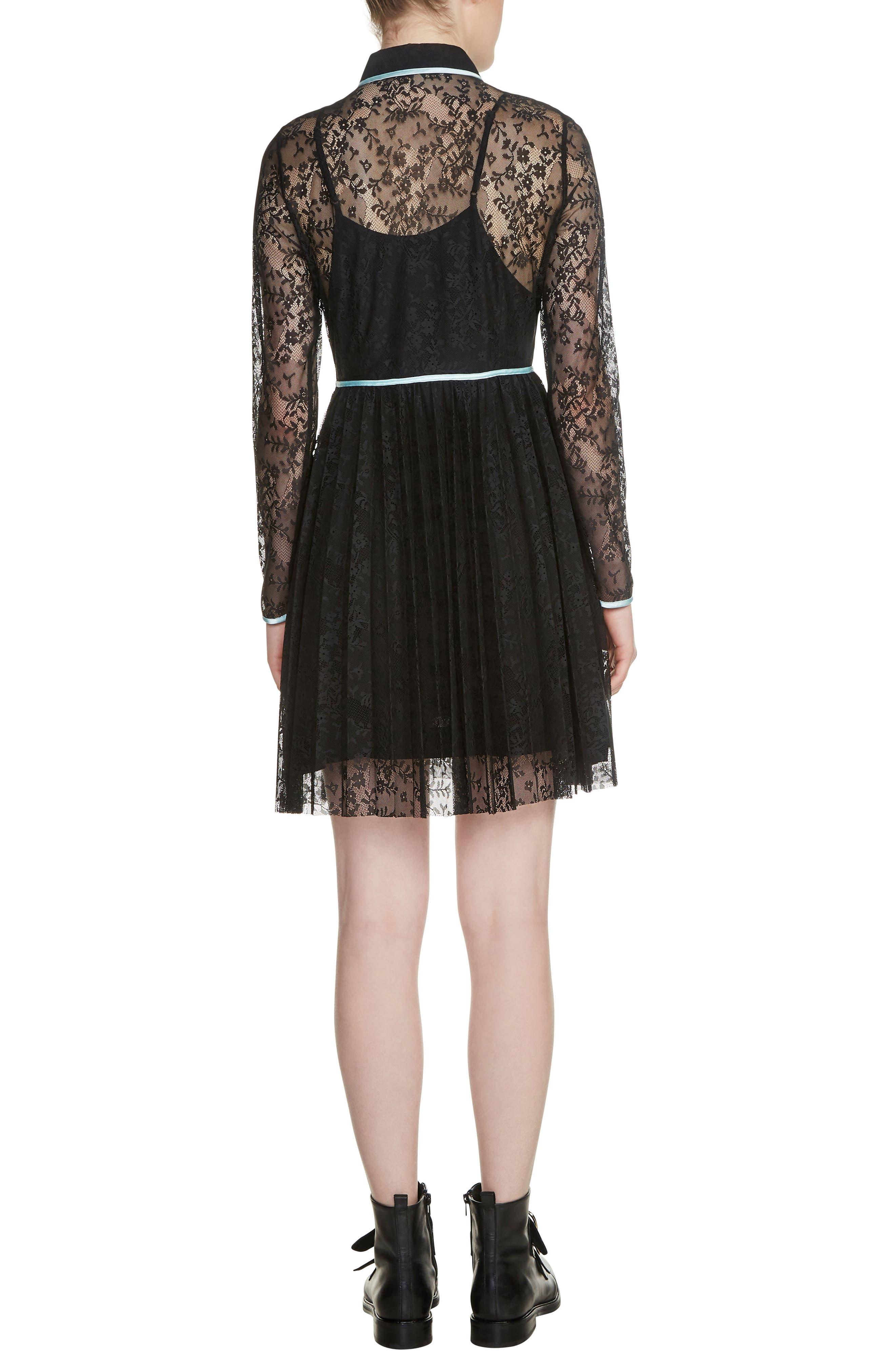 Rabilo Lace Shirtdress,                             Alternate thumbnail 2, color,                             Black 210