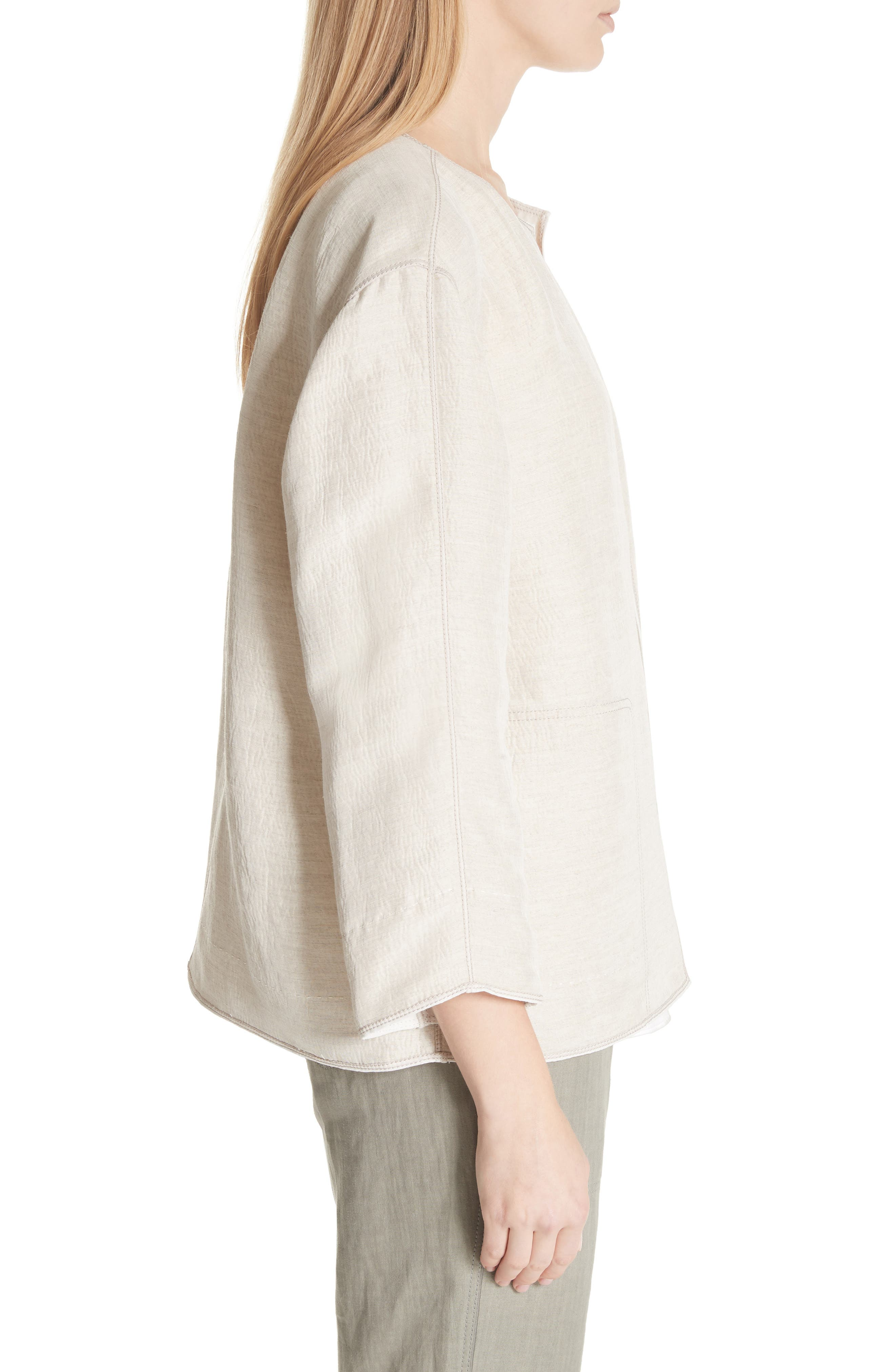 Milo Textured Jacket,                             Alternate thumbnail 3, color,                             Khaki Multi