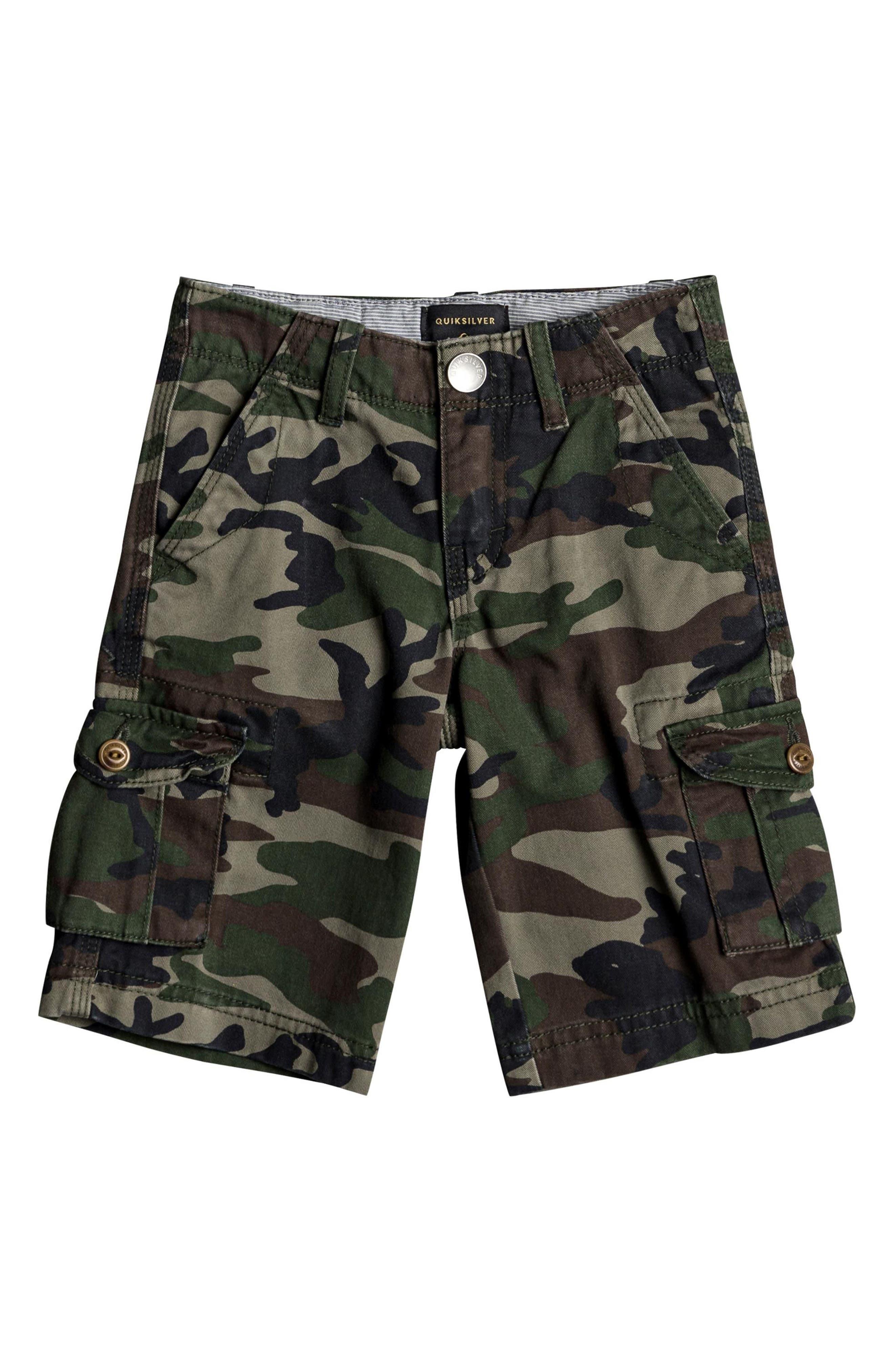Crucial Battle Cargo Shorts,                         Main,                         color, Camo Print