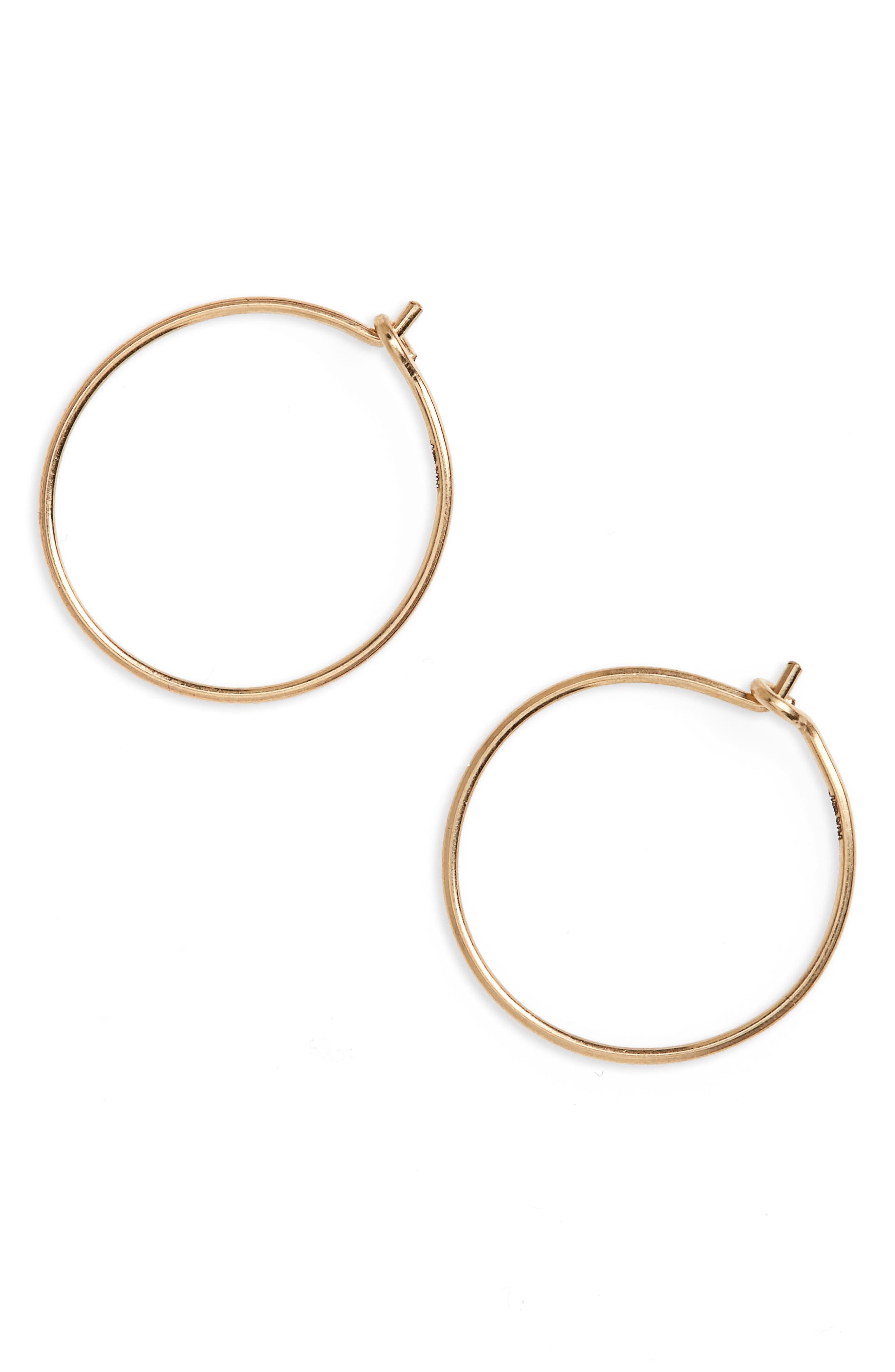 Delicate Wire Hoop Earrings,                         Main,                         color, Gold