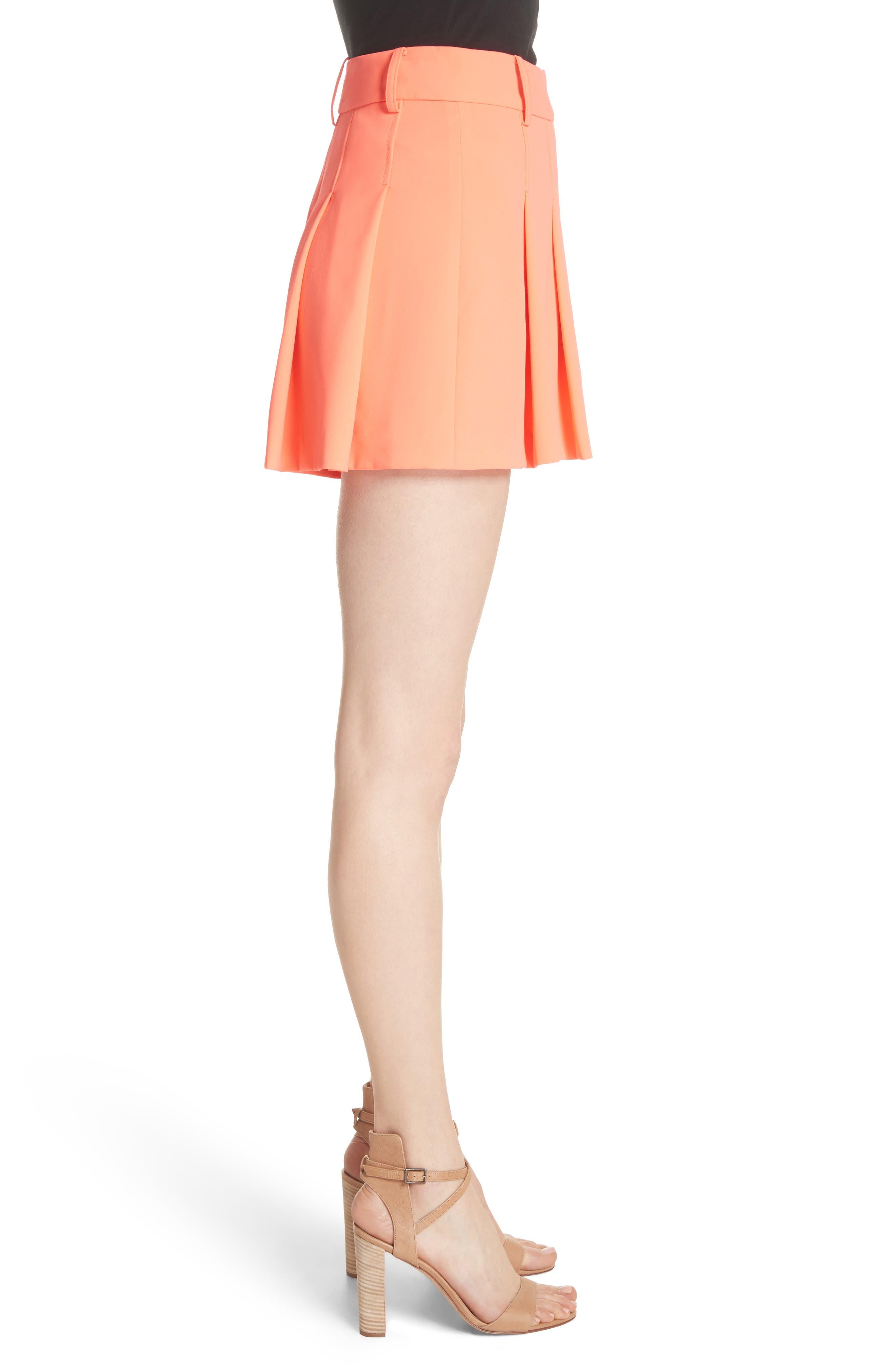 Scarlet Flutter Shorts,                             Alternate thumbnail 3, color,                             Neon Coral