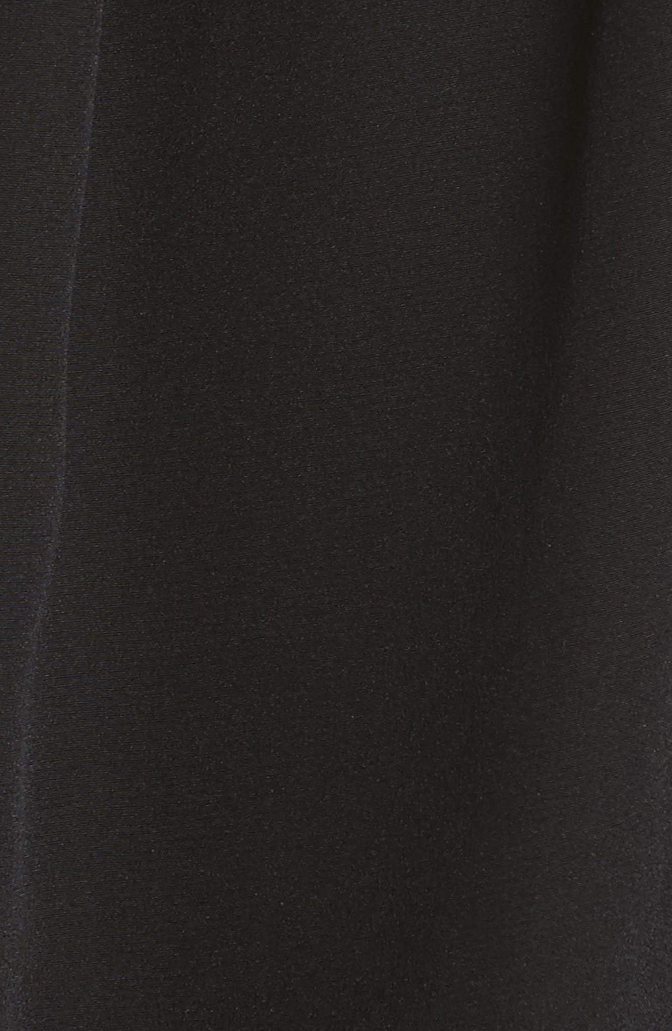 Cutout Silk Top,                             Alternate thumbnail 6, color,                             Black