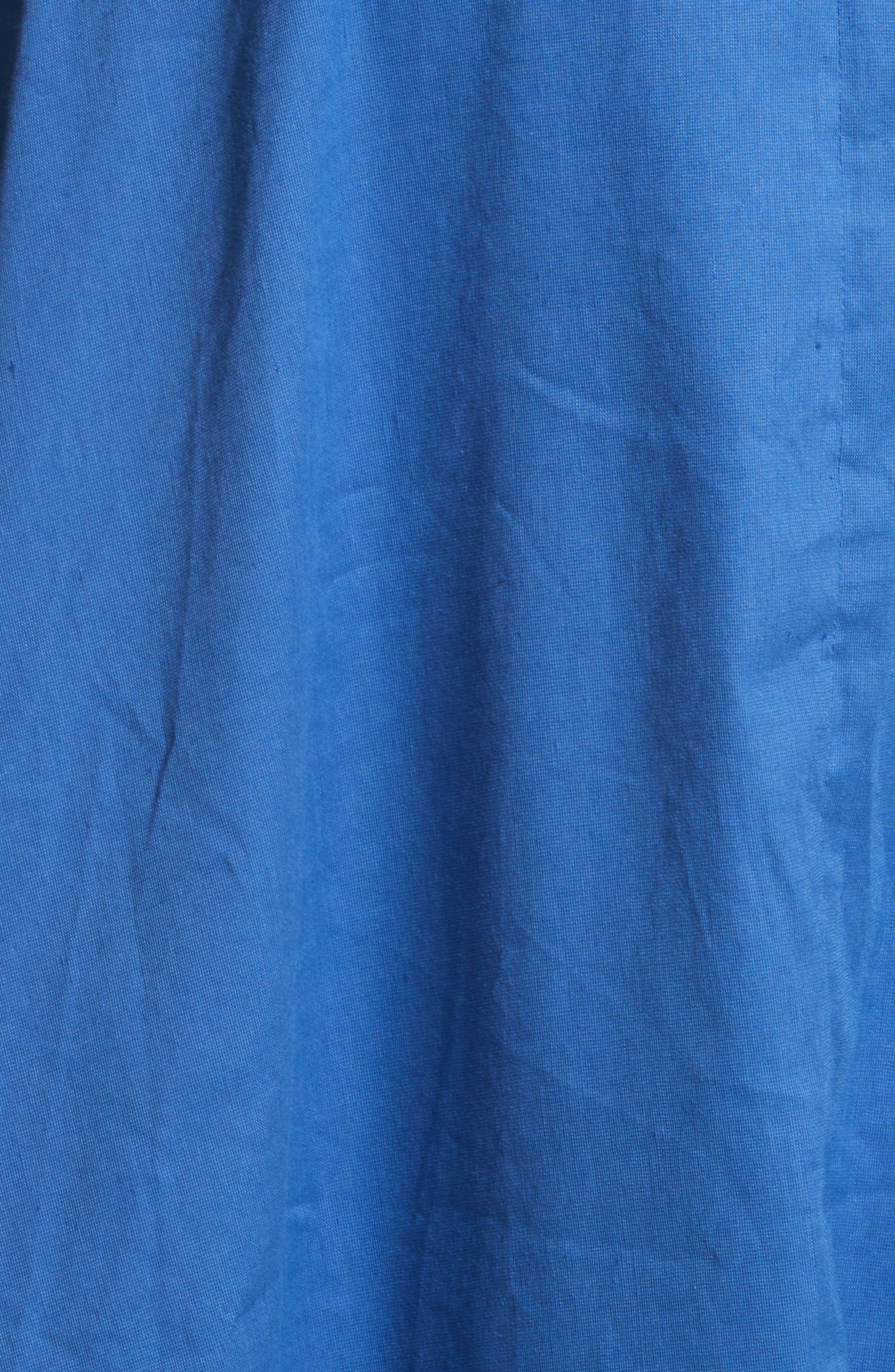 Michaela Linen Dress,                             Alternate thumbnail 5, color,                             Linen Blue