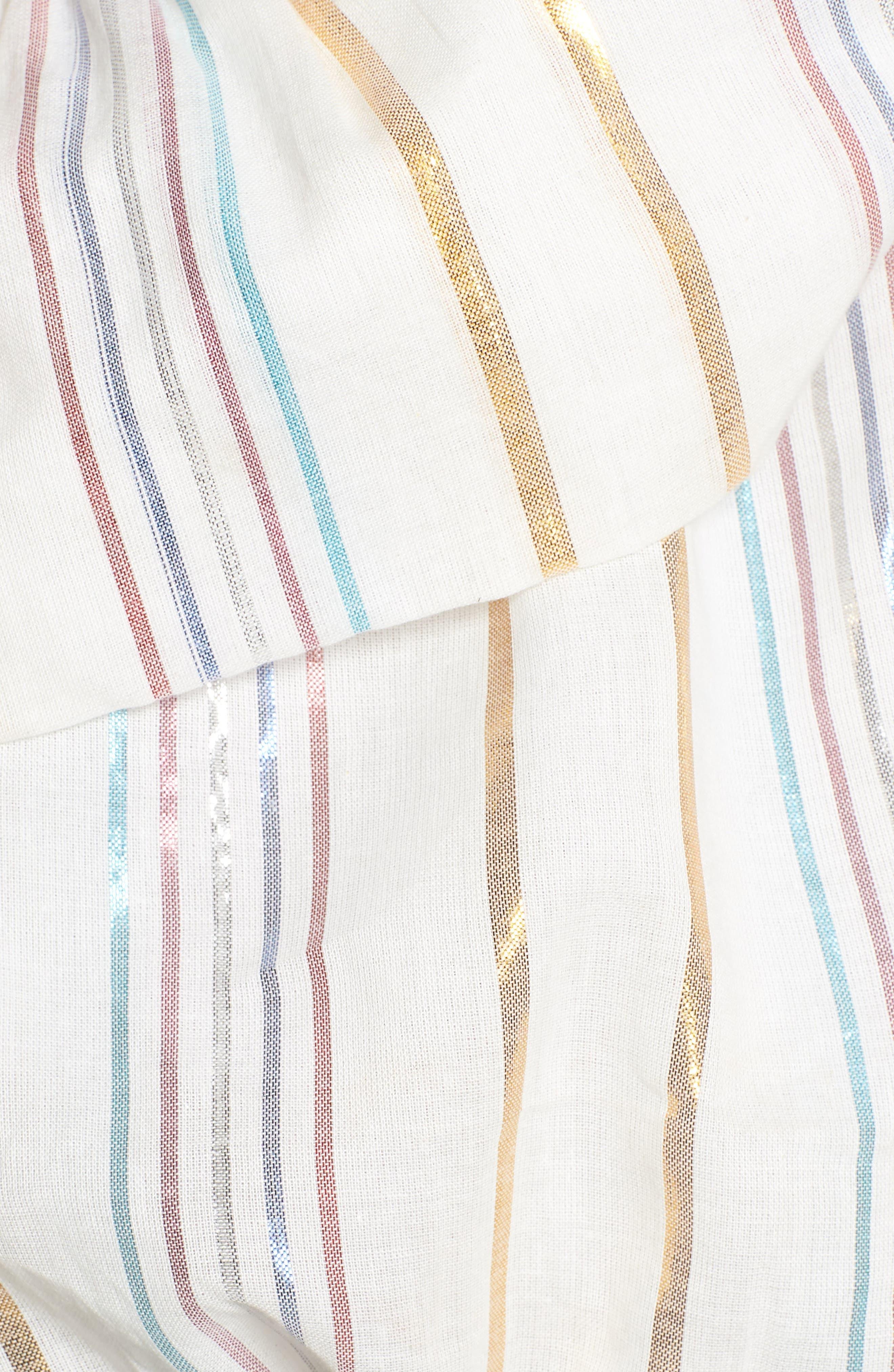 Vanessa One-Shoulder Crop Top,                             Alternate thumbnail 6, color,                             Marshmallow