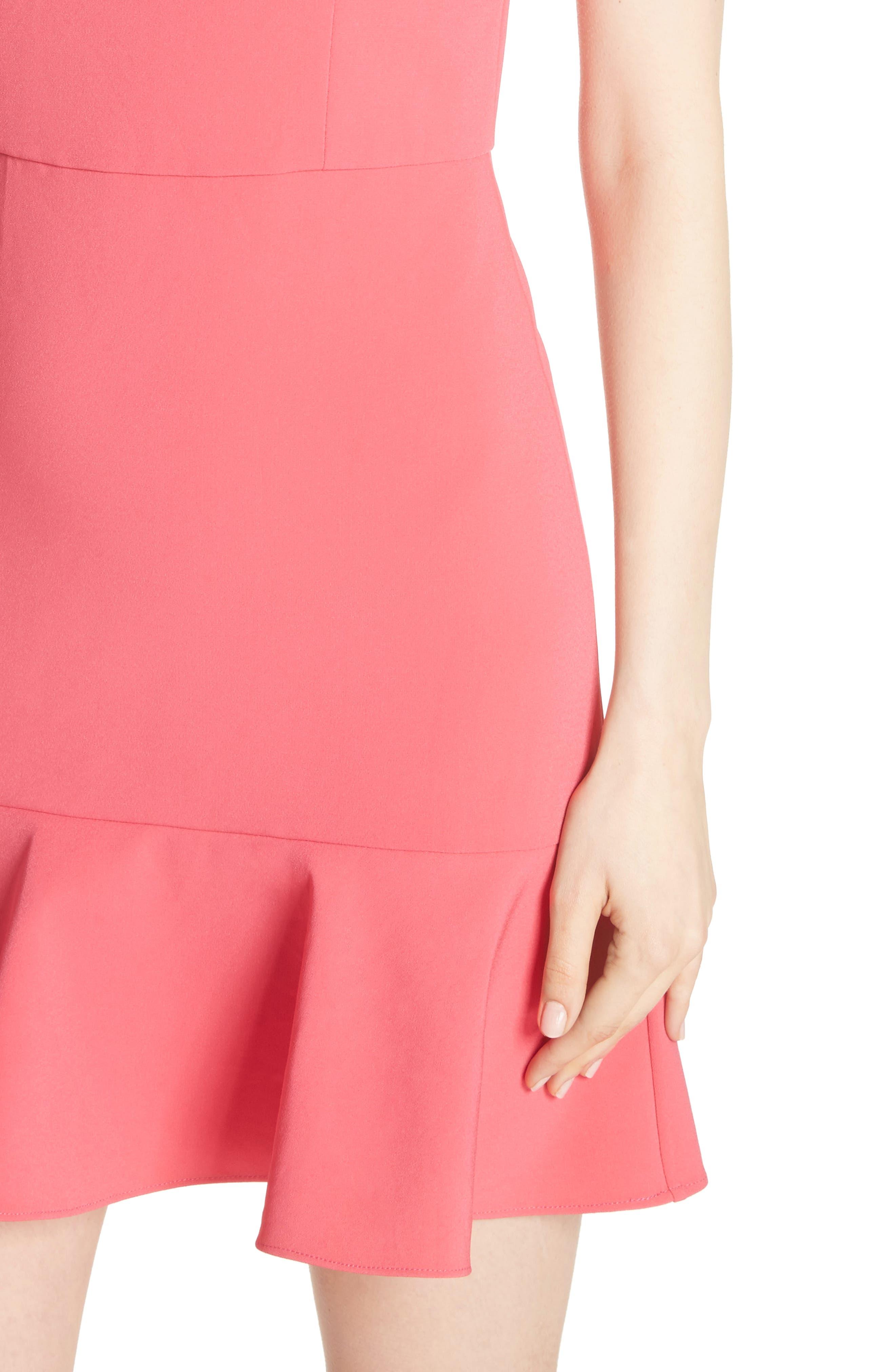 Andalasia Sleeveless Fit & Flare Dress,                             Alternate thumbnail 4, color,                             Watermelon