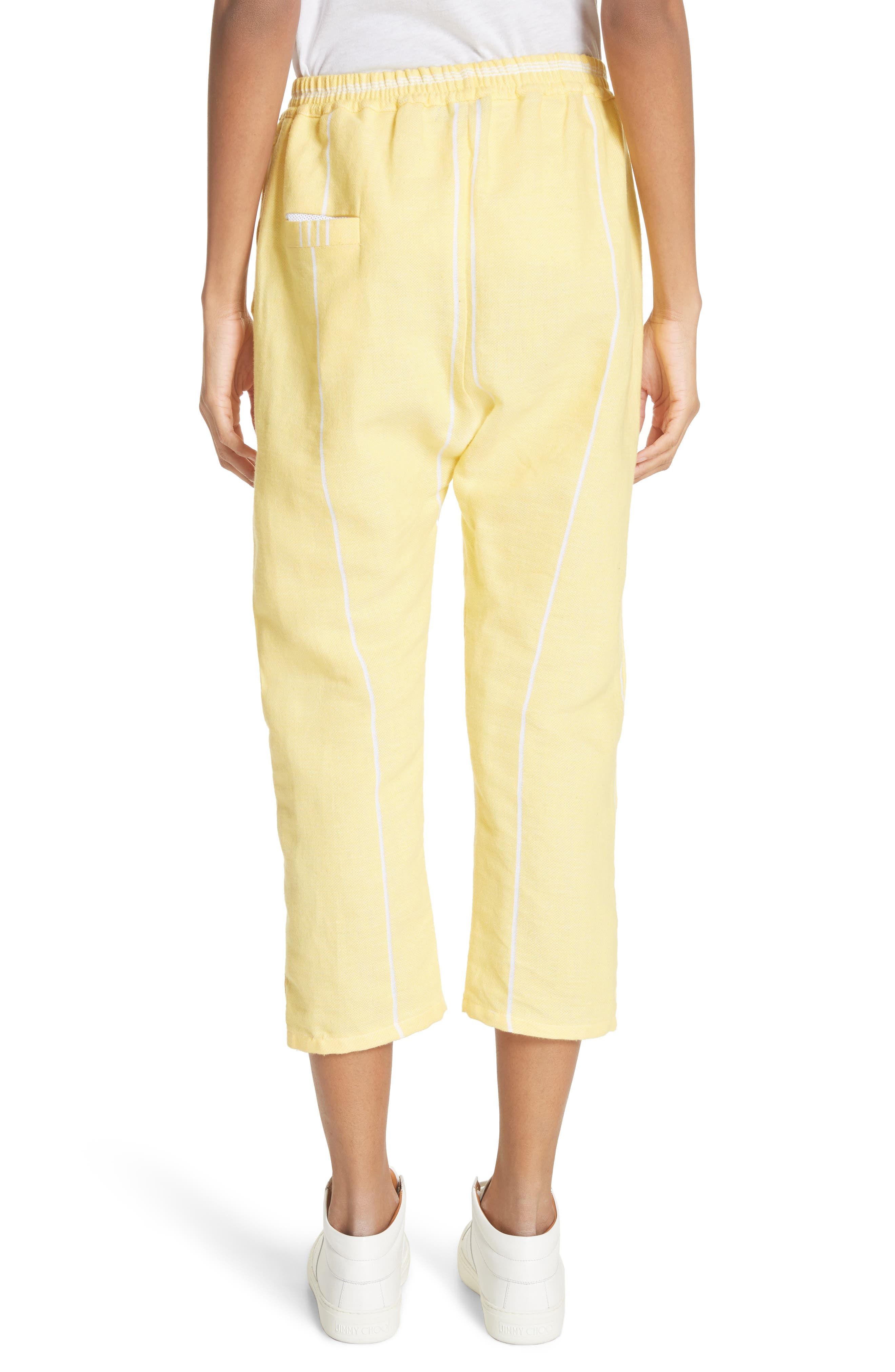 Stripe Cotton Beach Pants,                             Alternate thumbnail 2, color,                             Yellow