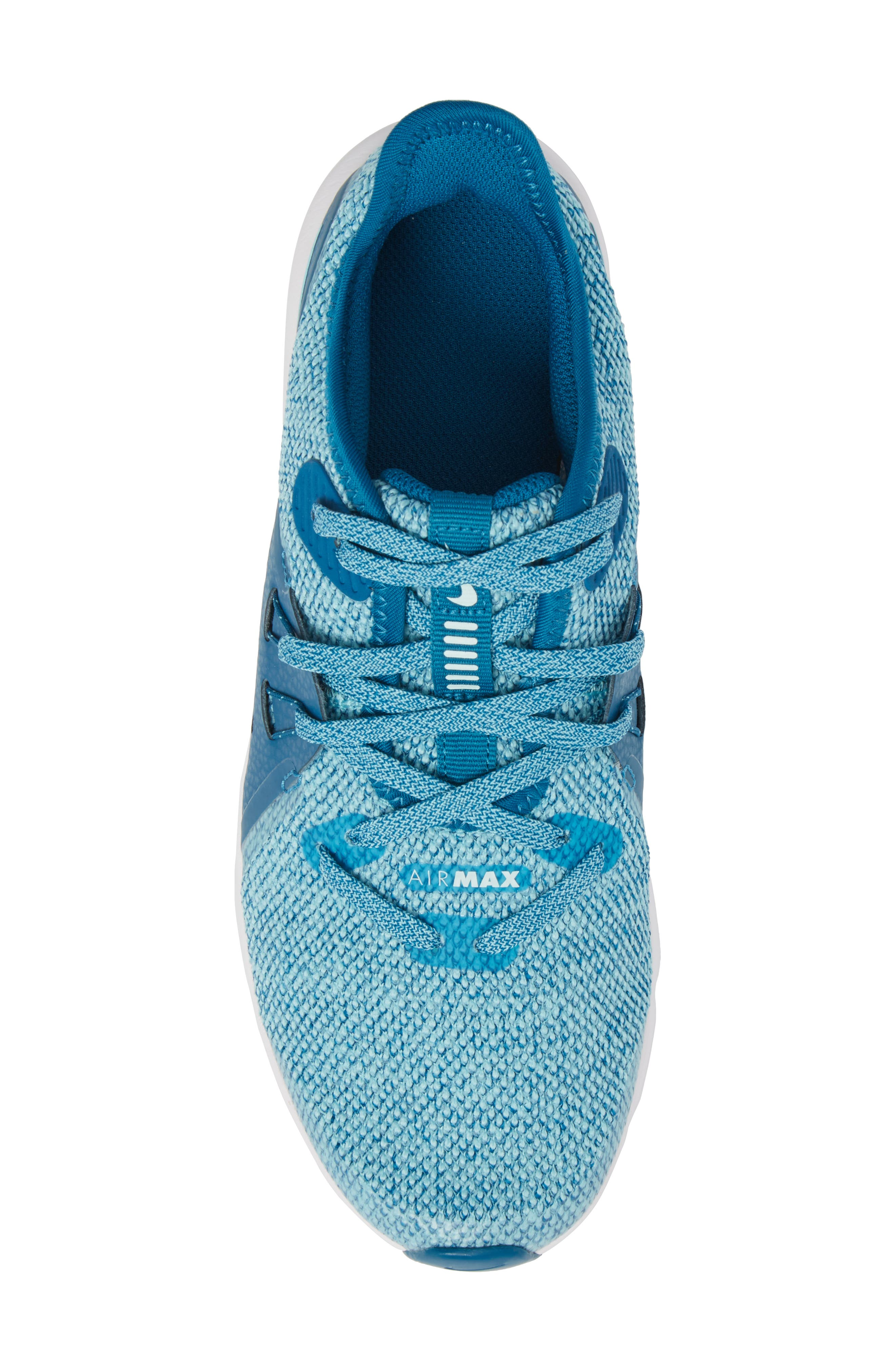 Air Max Sequent 3 GS Running Shoe,                             Alternate thumbnail 6, color,                             Green/ Igloo/ Bleached Aqua