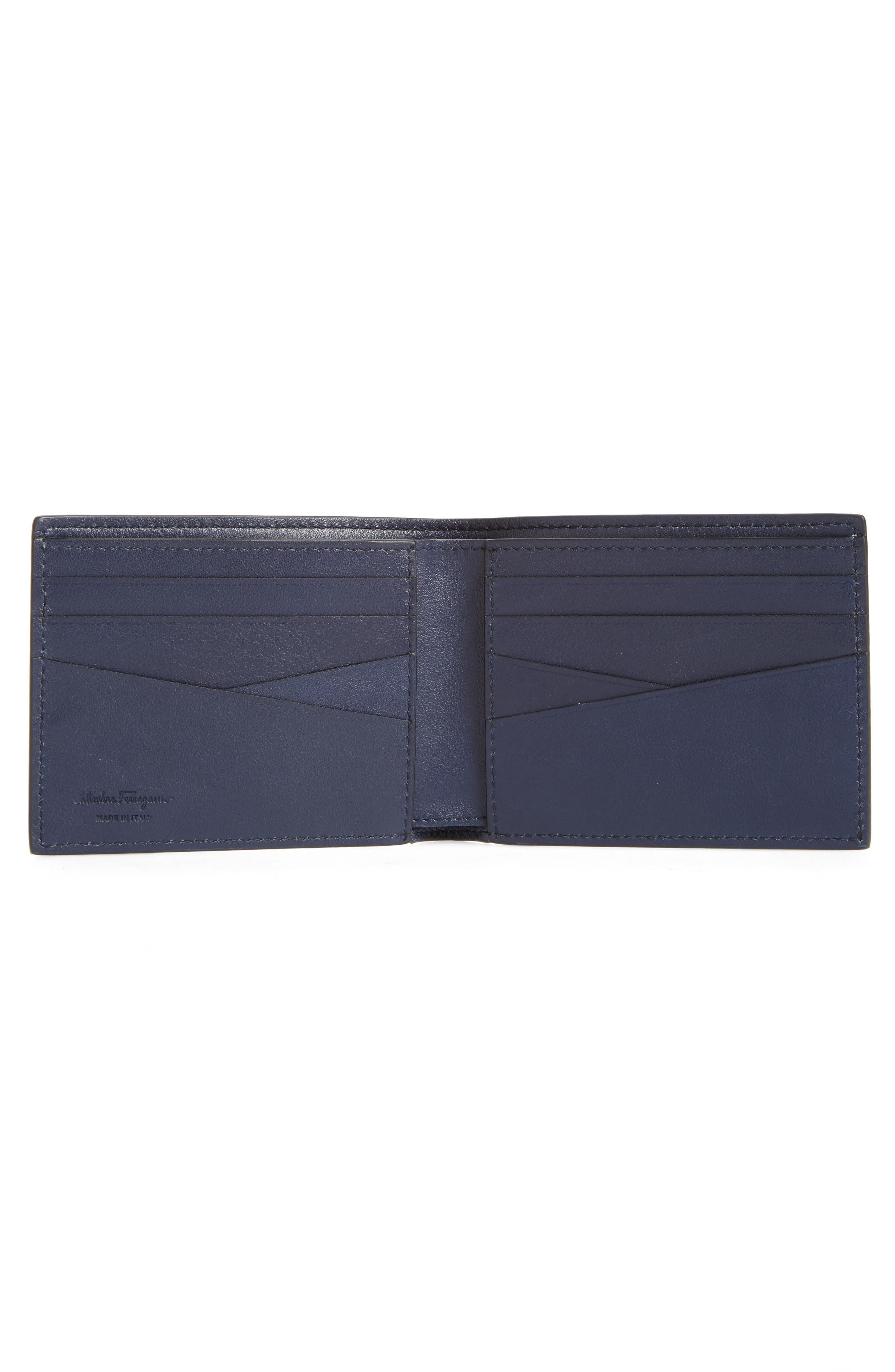 Firenze Glow Calfskin Leather Bifold Wallet,                             Alternate thumbnail 2, color,                             Blue