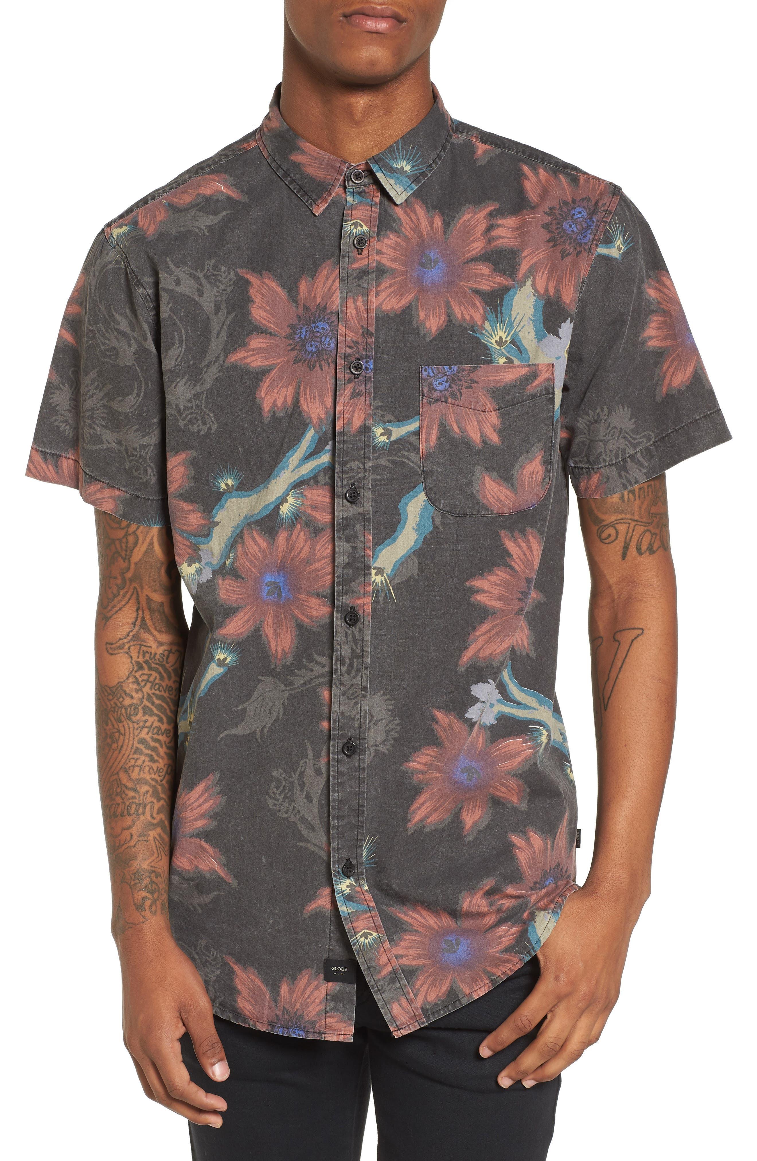 Vault Woven Shirt,                             Main thumbnail 1, color,                             Vintage Black