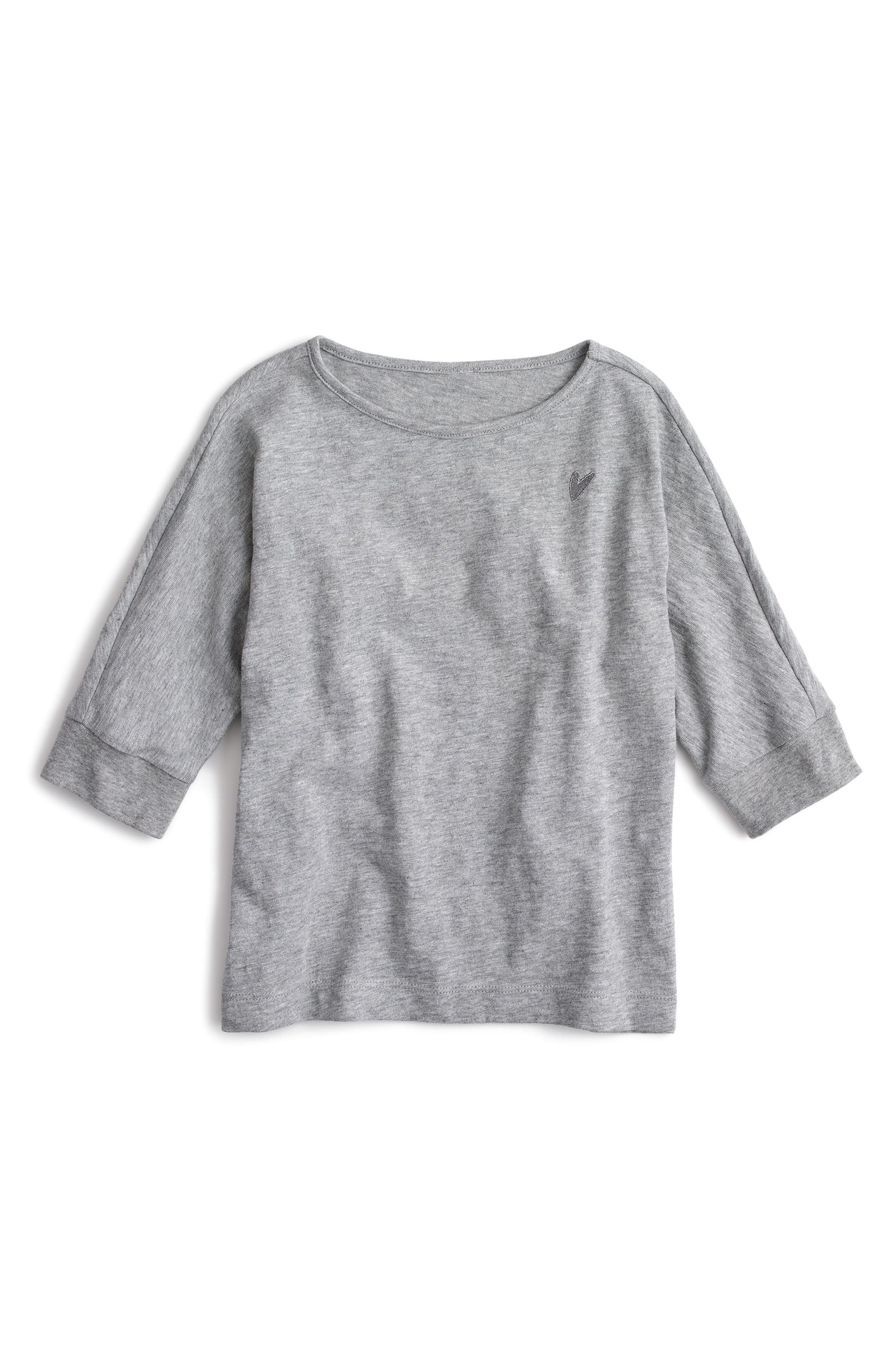 crewcuts by J.Crew Heart Appliqué Tee (Toddler Girls, Little Girls & Big Girls)