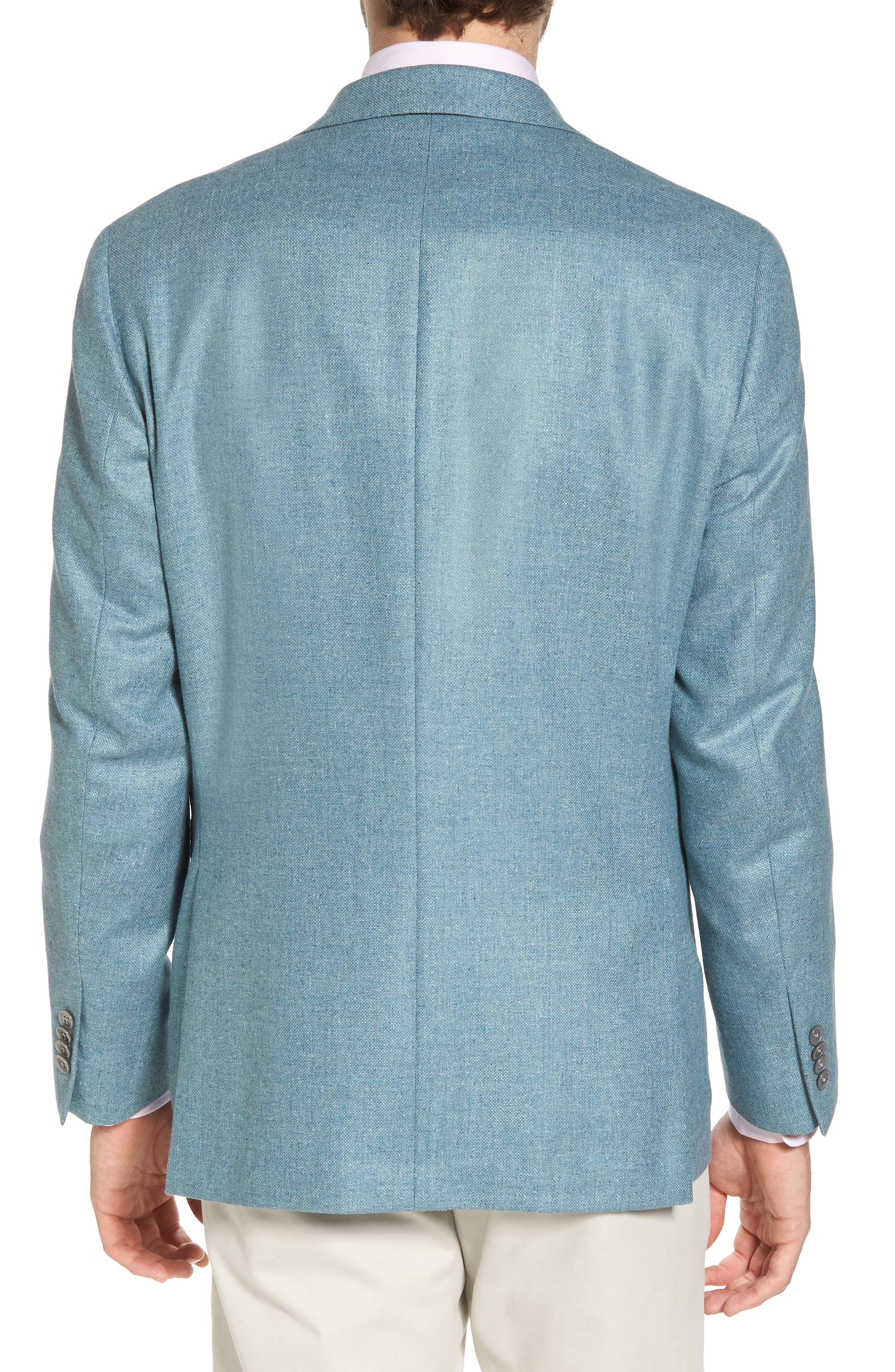Aiden Classic Fit Silk & Wool Blazer,                             Alternate thumbnail 2, color,                             Teal