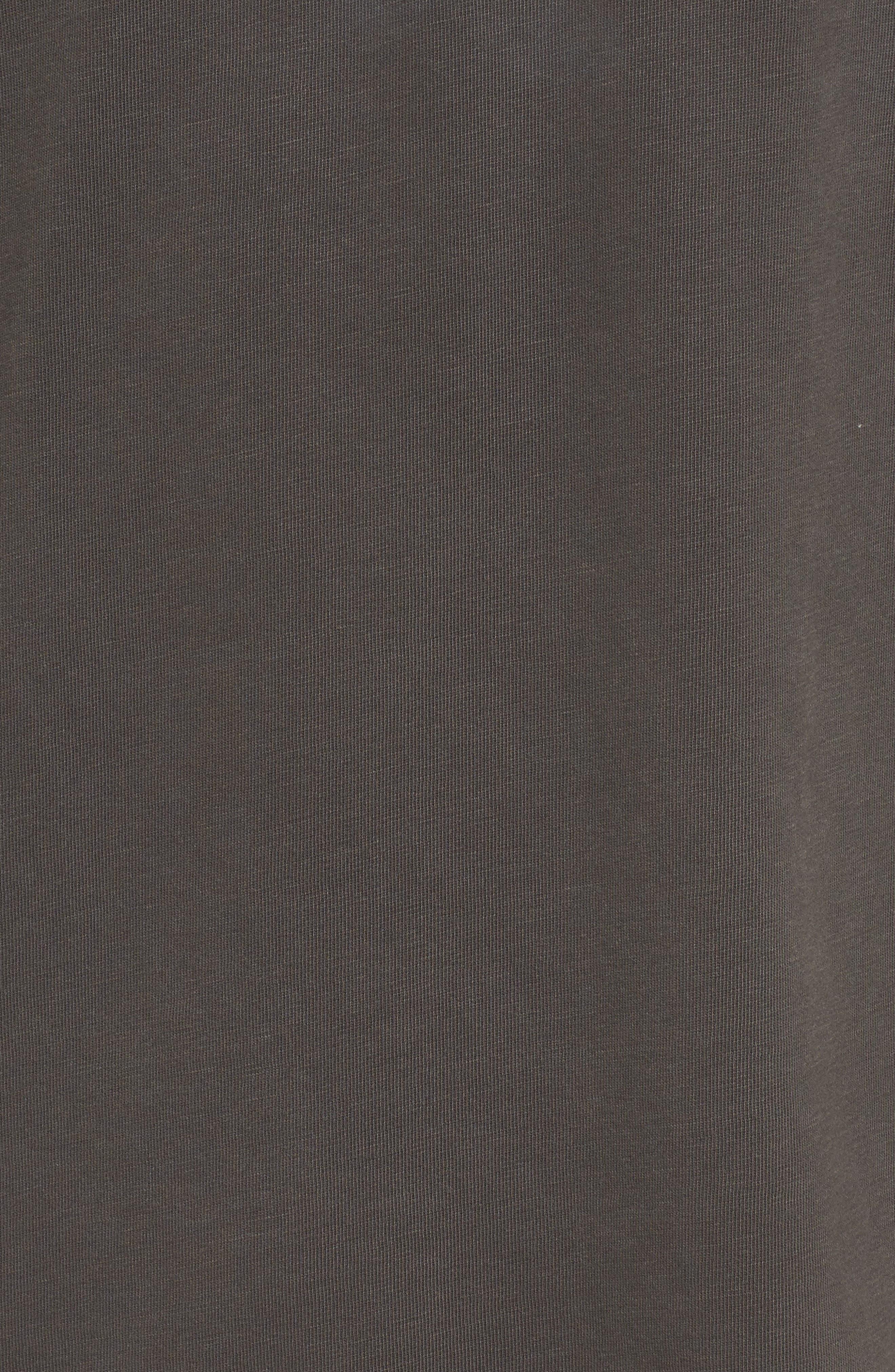 Slub T-Shirt,                             Alternate thumbnail 5, color,                             Grey Onyx