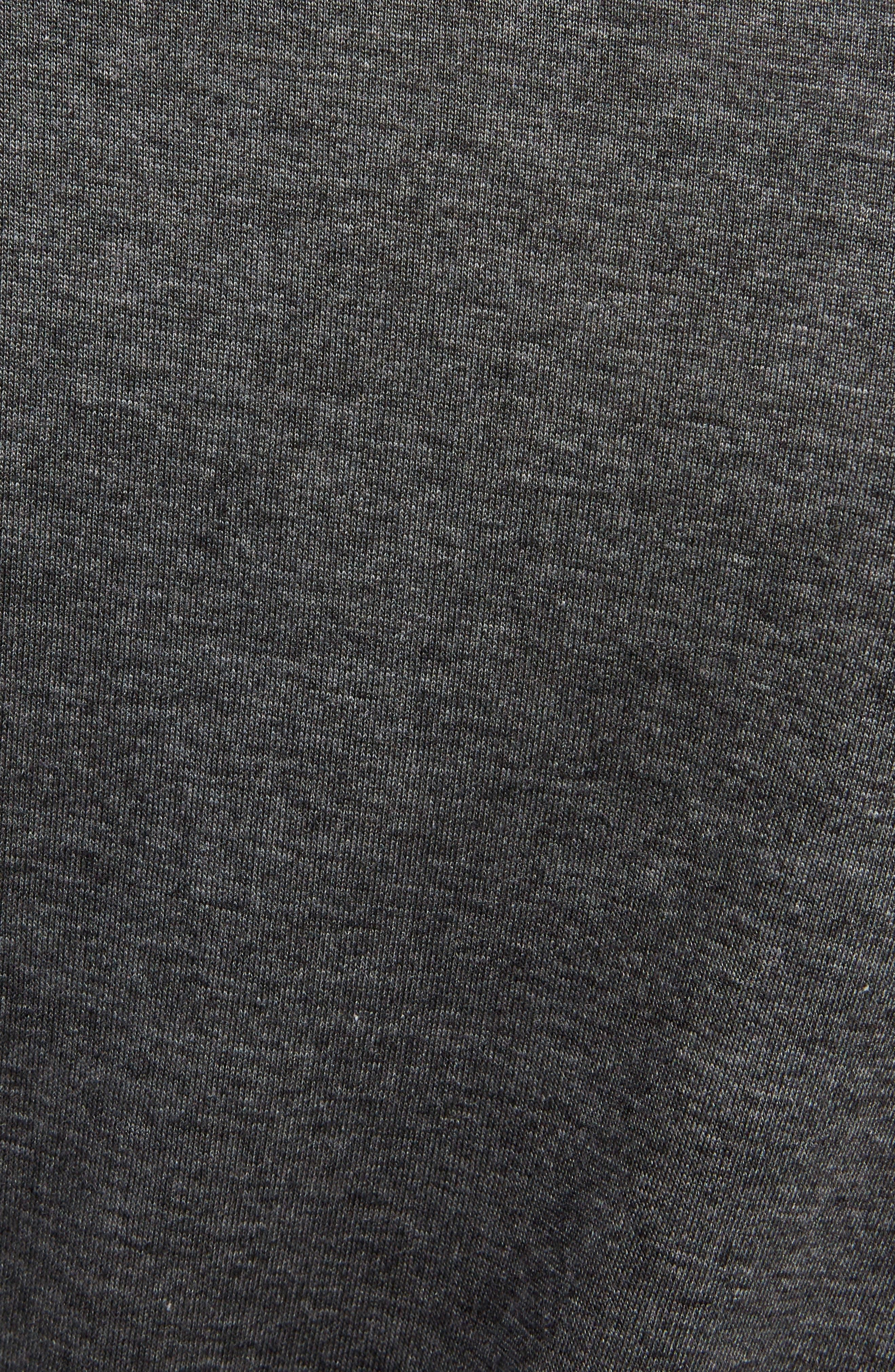 Trudela Asymmetrical Tank Dress,                             Alternate thumbnail 5, color,                             Dark Grey Melange