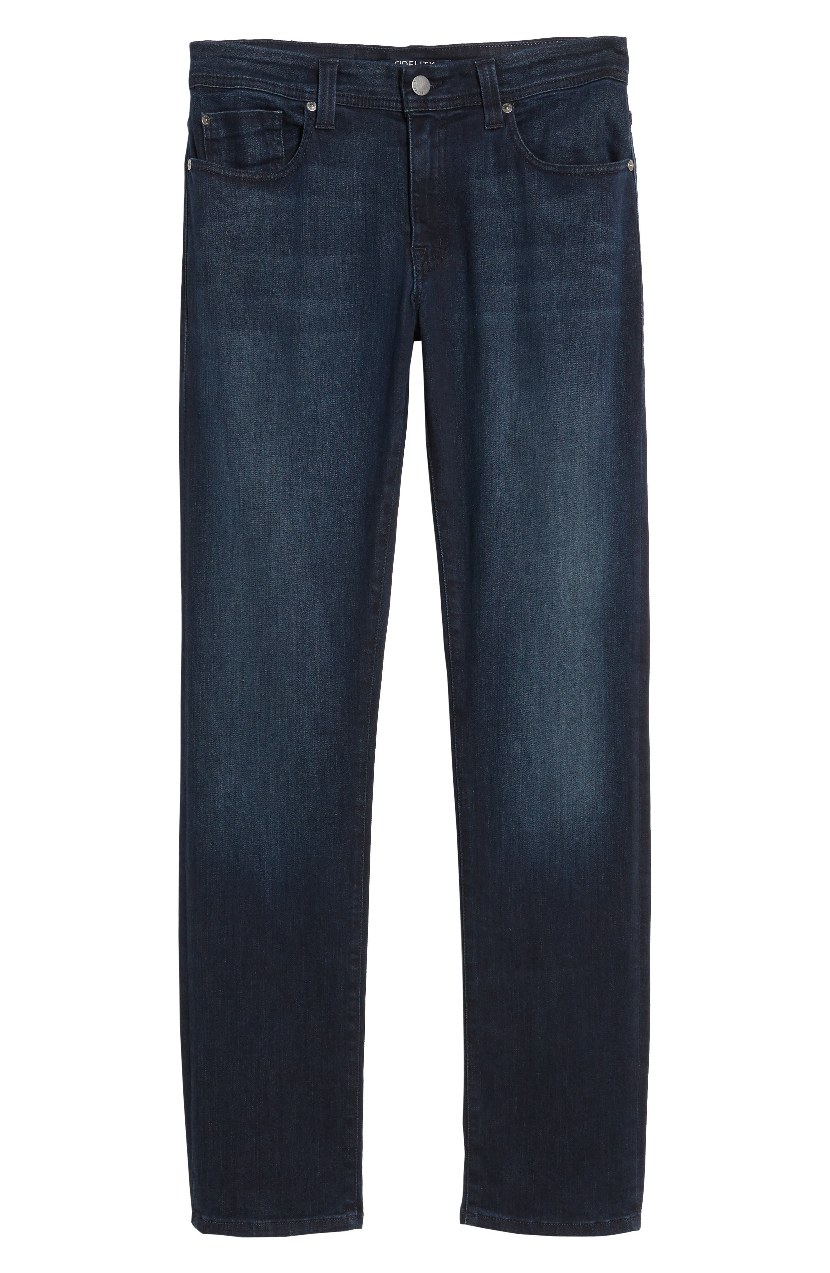 Jimmy Slim Straight Fit Jeans,                             Alternate thumbnail 6, color,                             Fade To Blue