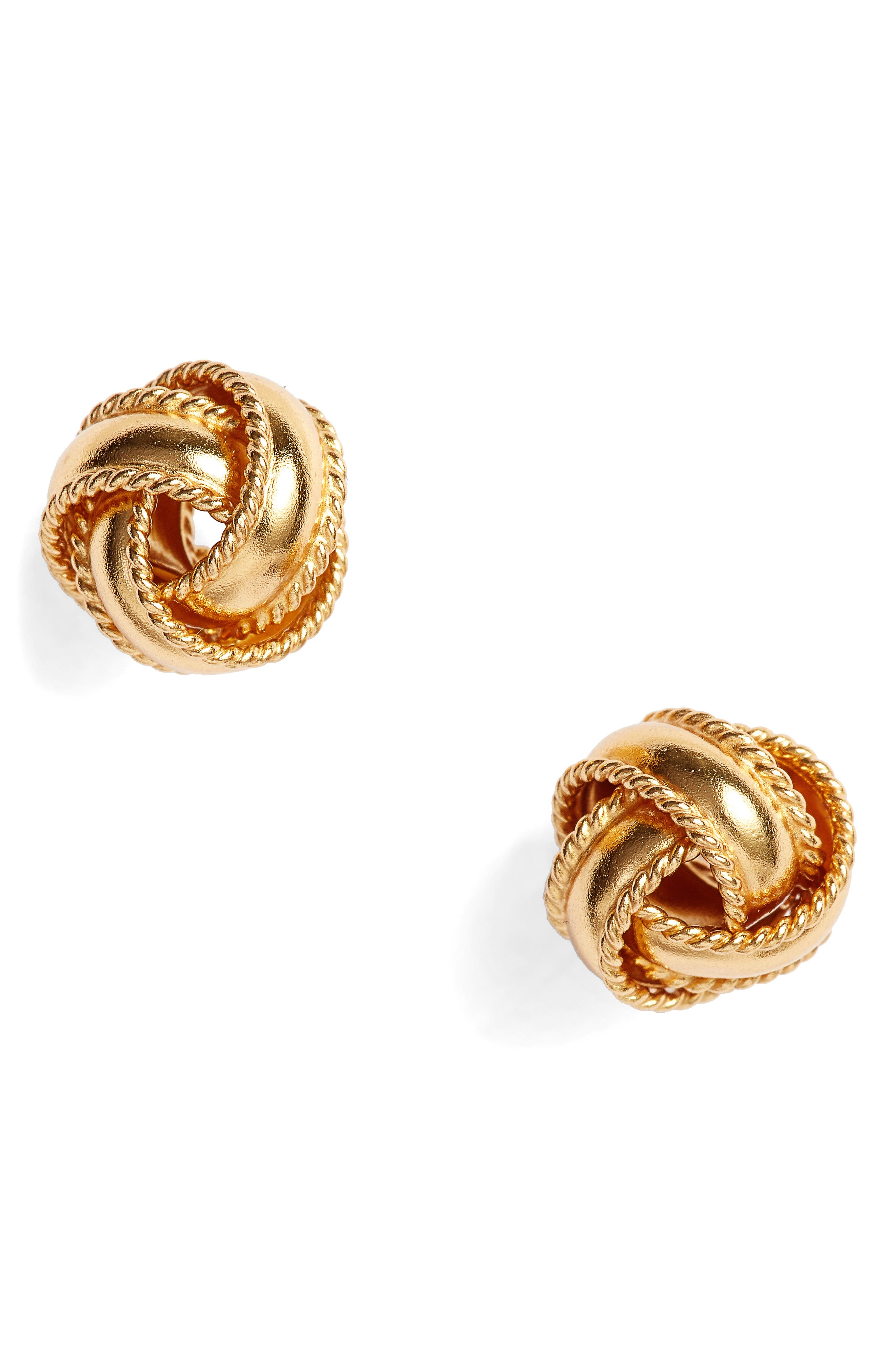 Argento Vivo Love Knot Stud Earrings
