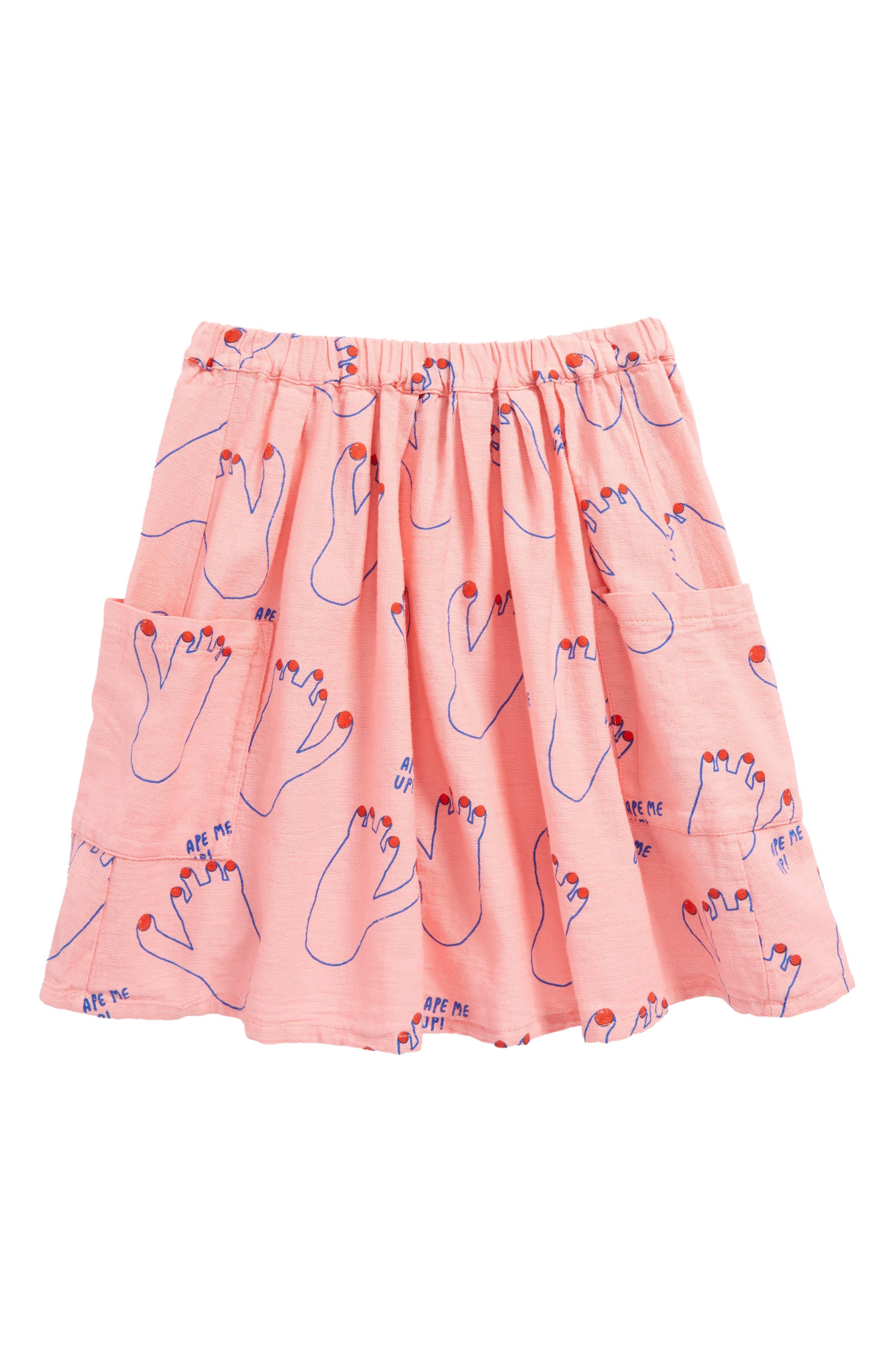 Footprint Skirt,                         Main,                         color, Strawberry Ice